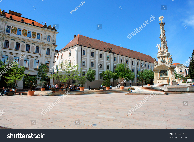 Main City Square Pecs Hungary Pecs Stock Photo 537258733