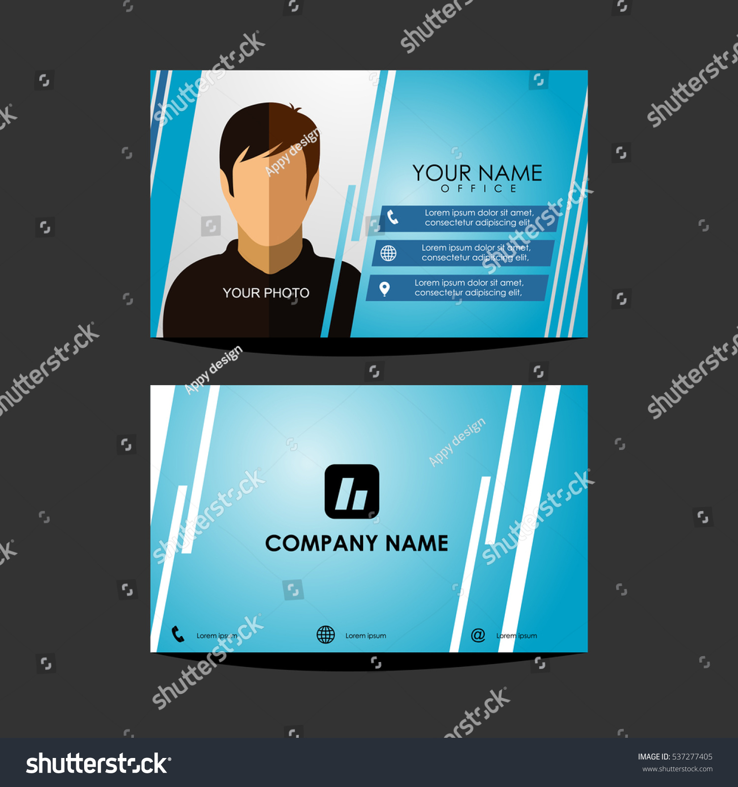 537277405 Shutterstock Business Template Vector Design Id