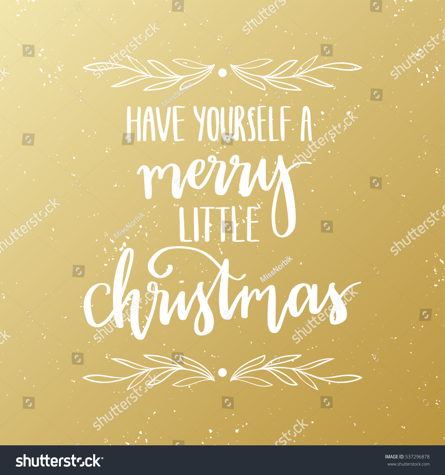 Have Yourself a Merry Little Christmas - typographic design greeting ...