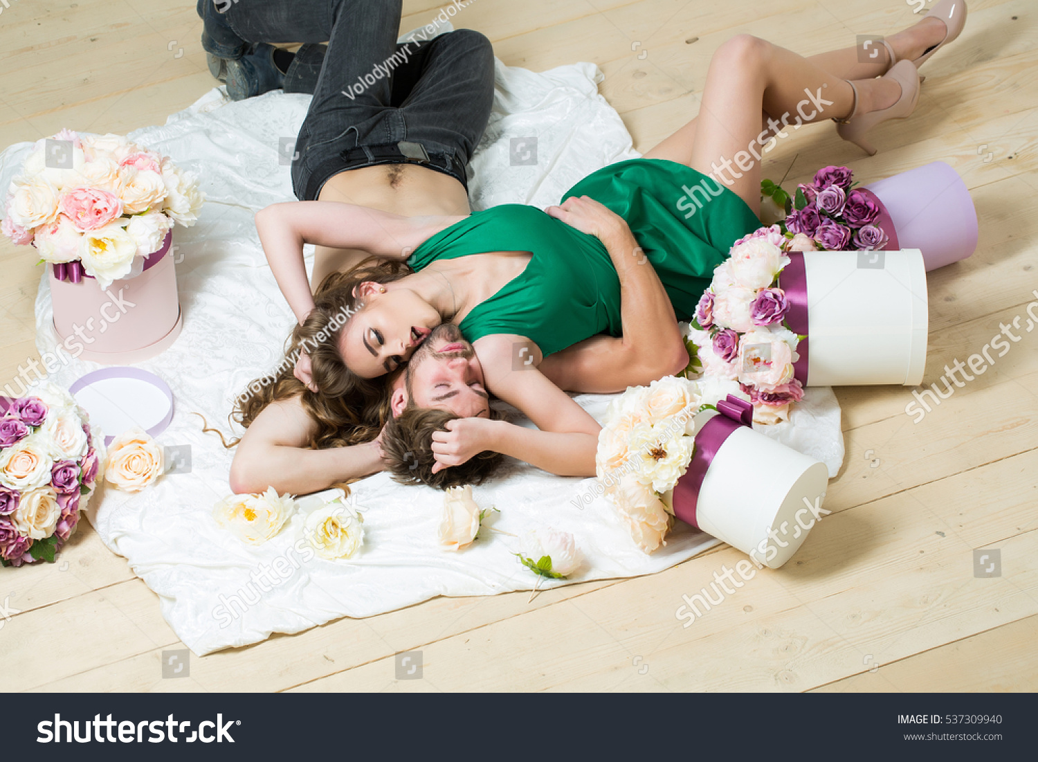 Sexy Couple Young Beautiful Cute Lovers Stock Photo -8126