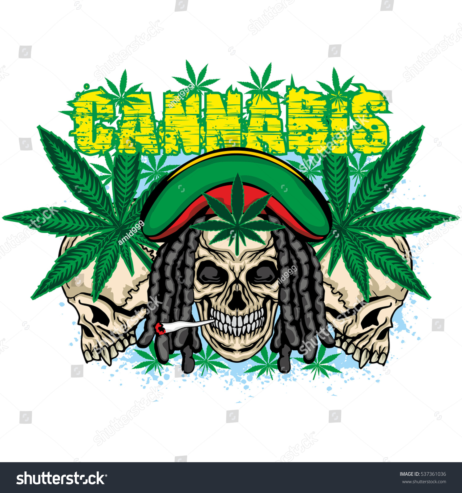 Rastafarian coat arms skull cannabis leaf stock vector 537361036 rastafarian coat of arms with skull and cannabis leaf grungentage design t biocorpaavc Image collections