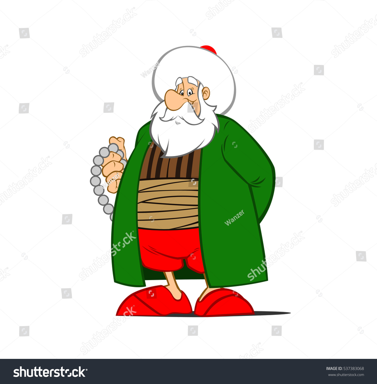 Animated Character Design In Illustrator : Nasreddin hodja illustration cartoon character design