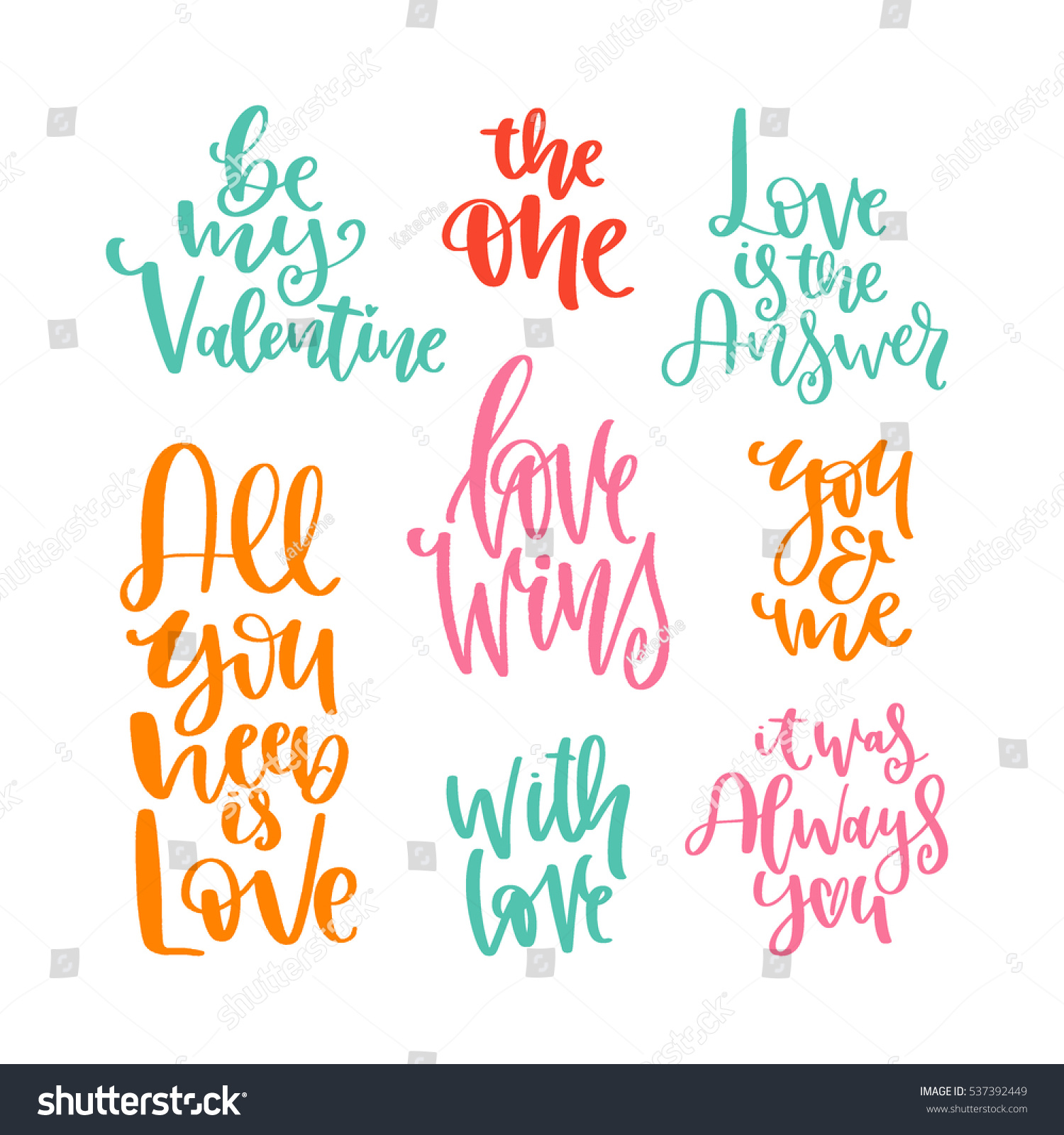 Valentines Day Romantic Wishes Quote About Stock Vector Royalty
