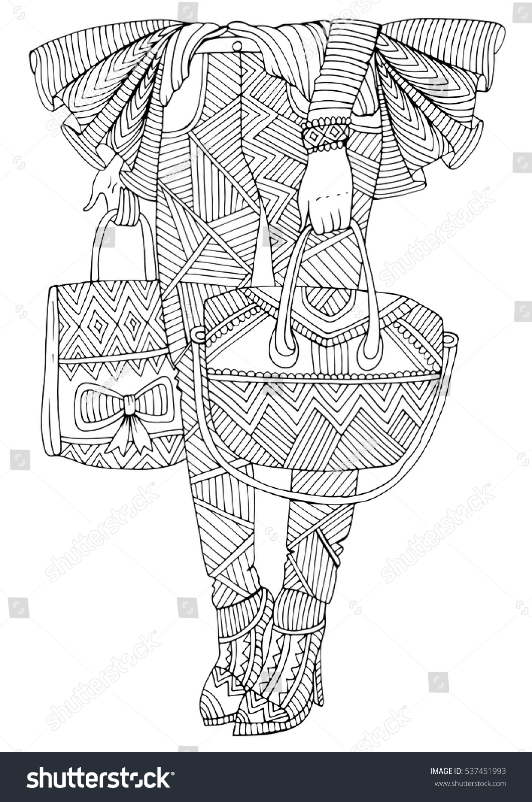 vector hand drawn legs stands stock vector 537451993