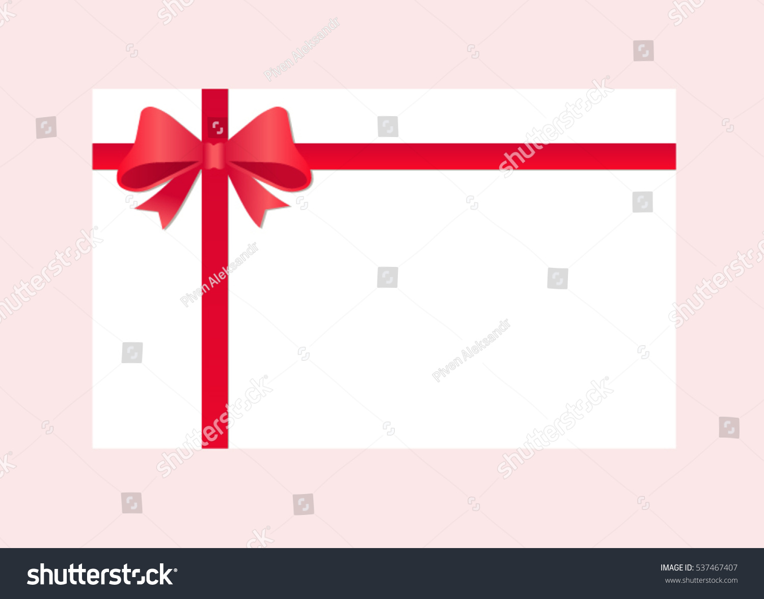 gift card red ribbon bow gift stock vector shutterstock gift card red ribbon and a bow gift voucher template vector image