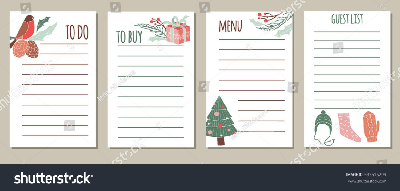 vector set new year christmas holidays stock vector royalty free