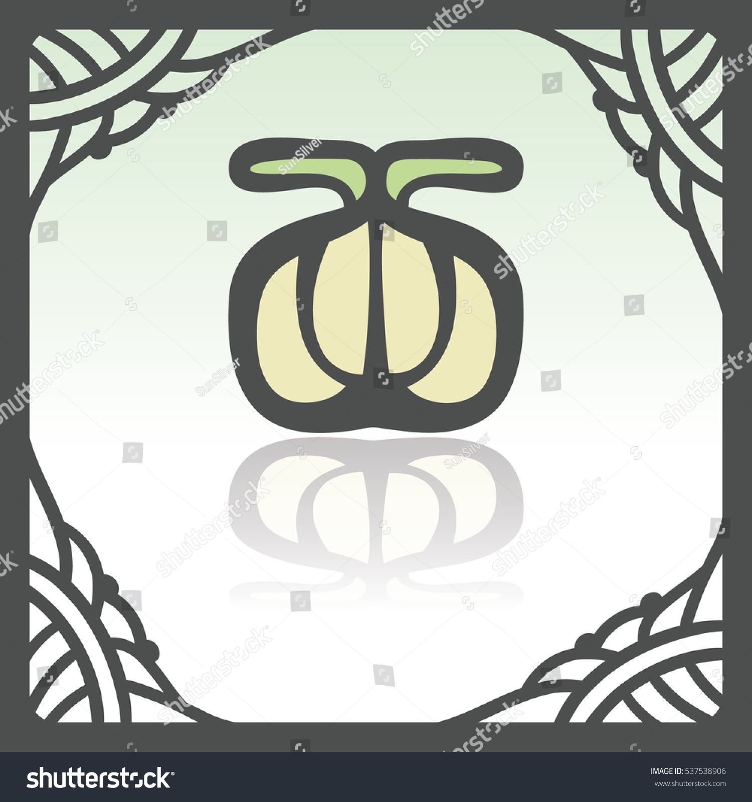 Vector Outline Garlic Food Icon Hand Stock Vector (Royalty Free ...