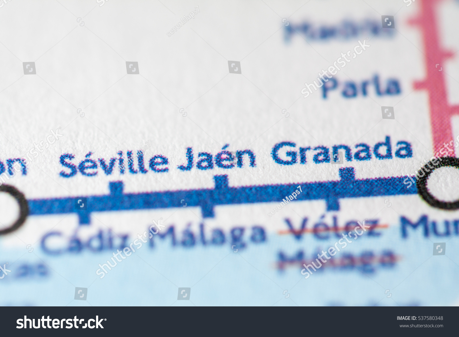 Jaen Spain On Geographical Map Stock Photo Edit Now 537580348