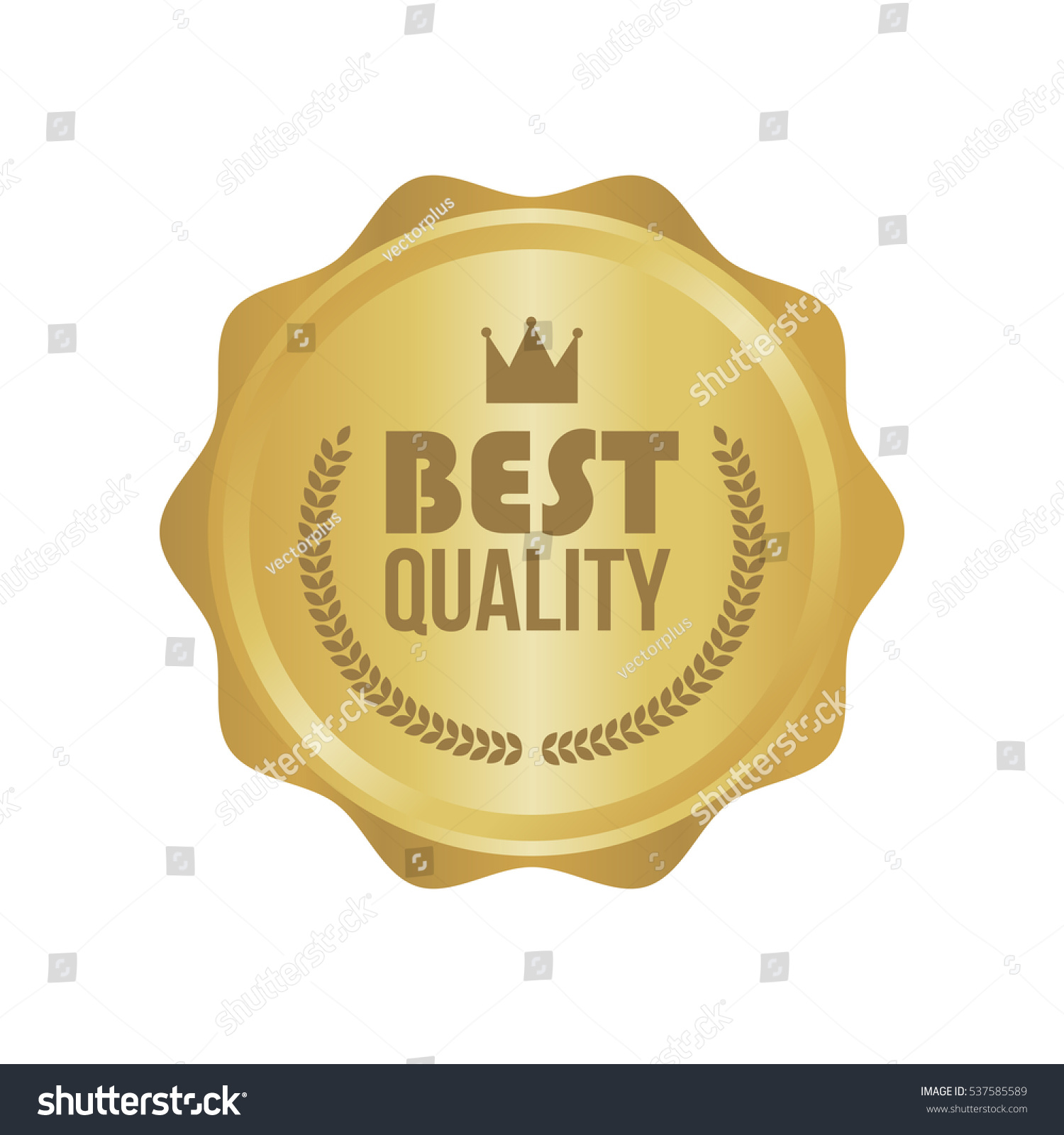 illustration vector sign depositphotos label stock best round quality gold