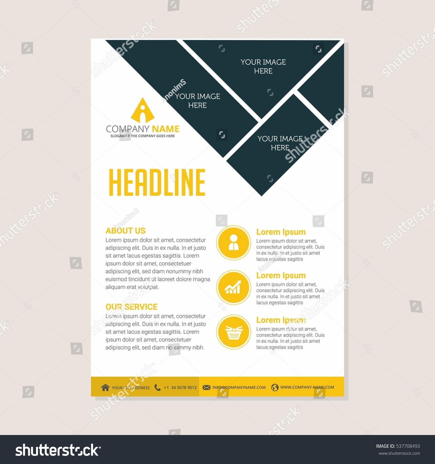 modern creative and clean business flyer design print templates modern creative and clean business flyer design print templates flat style vector illustration