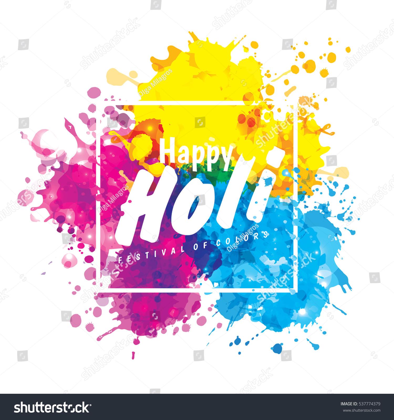 Holi Spring Festival Colors Design Element Stock Illustration