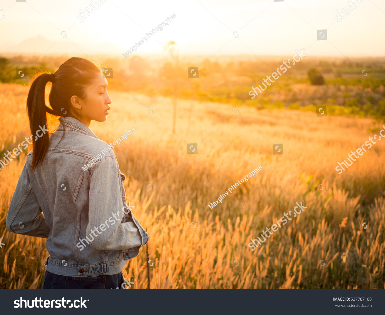 Free Happy Woman Enjoying Nature Beauty Stock Photo Edit Now 537787180
