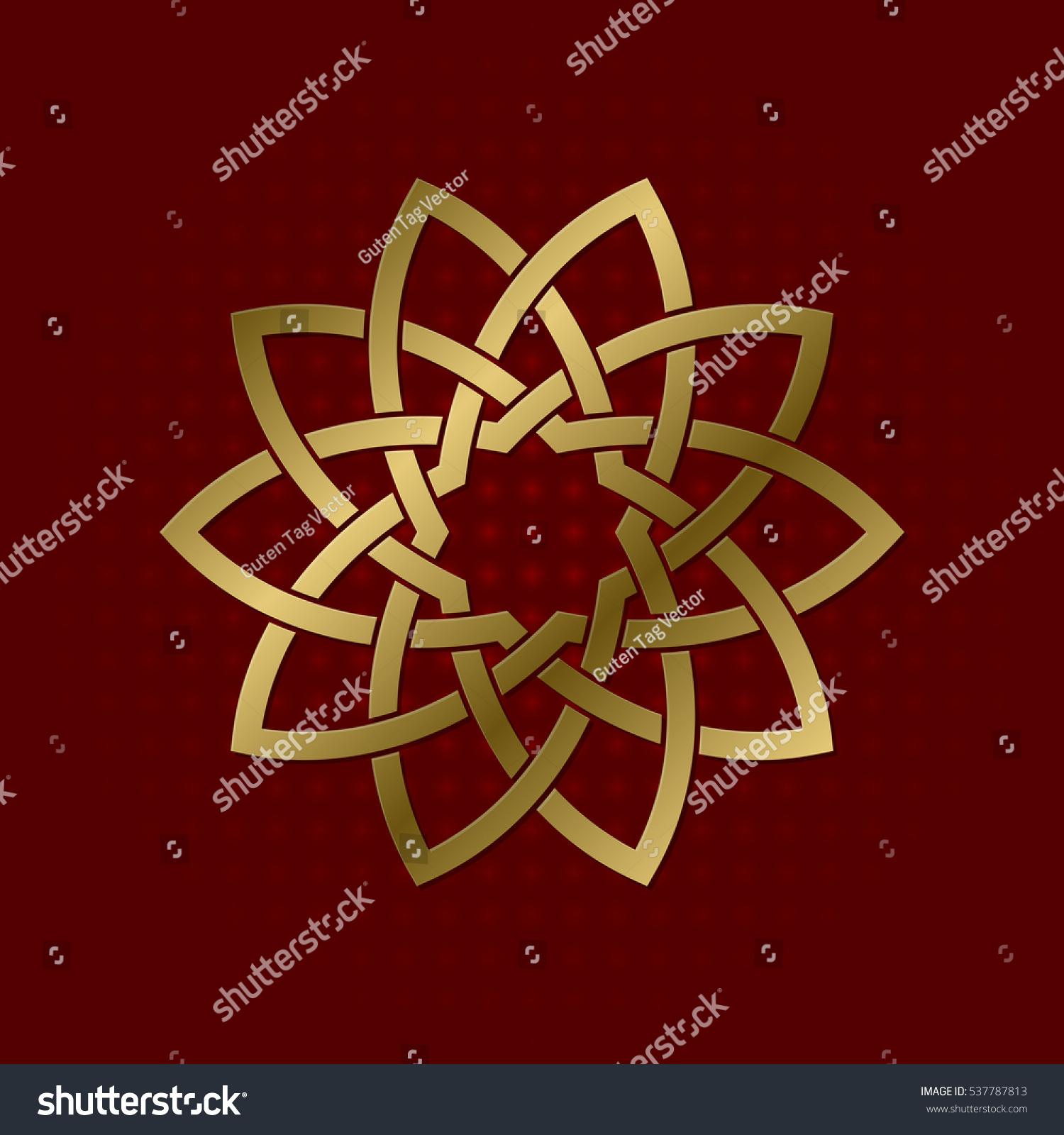 Sacred Geometric Symbol Ten Petals Flower Stock Vector (Royalty Free ...