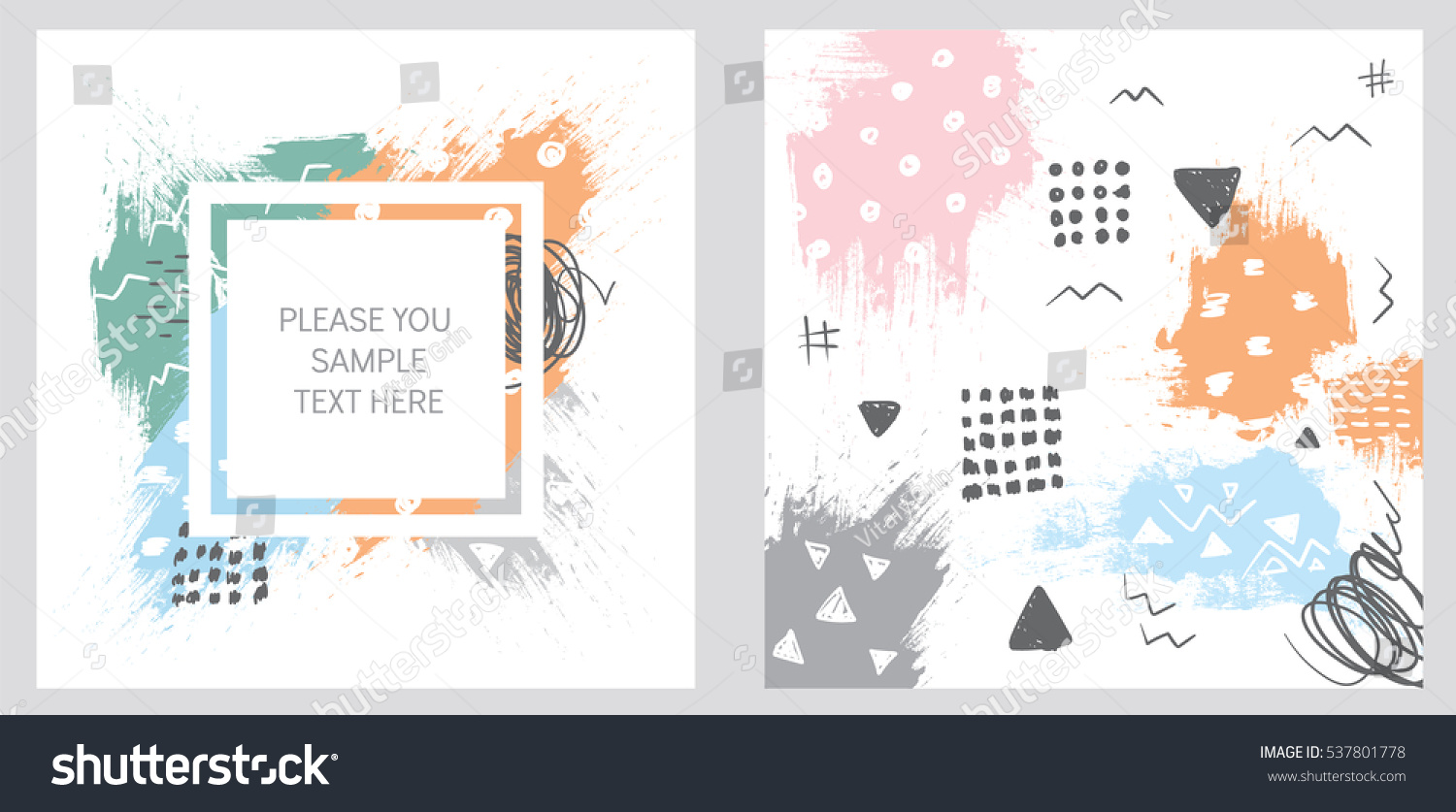 Abstract Illustration Postcards Flyers Banners Vector Stock Vector ...