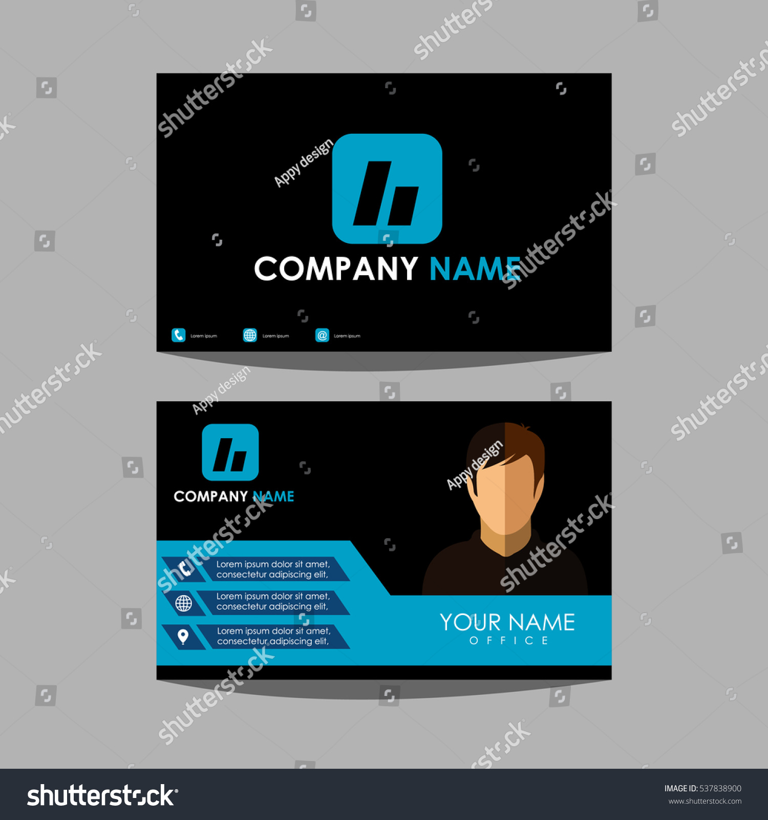 Design Template Layout Id Card Business Stock Vector