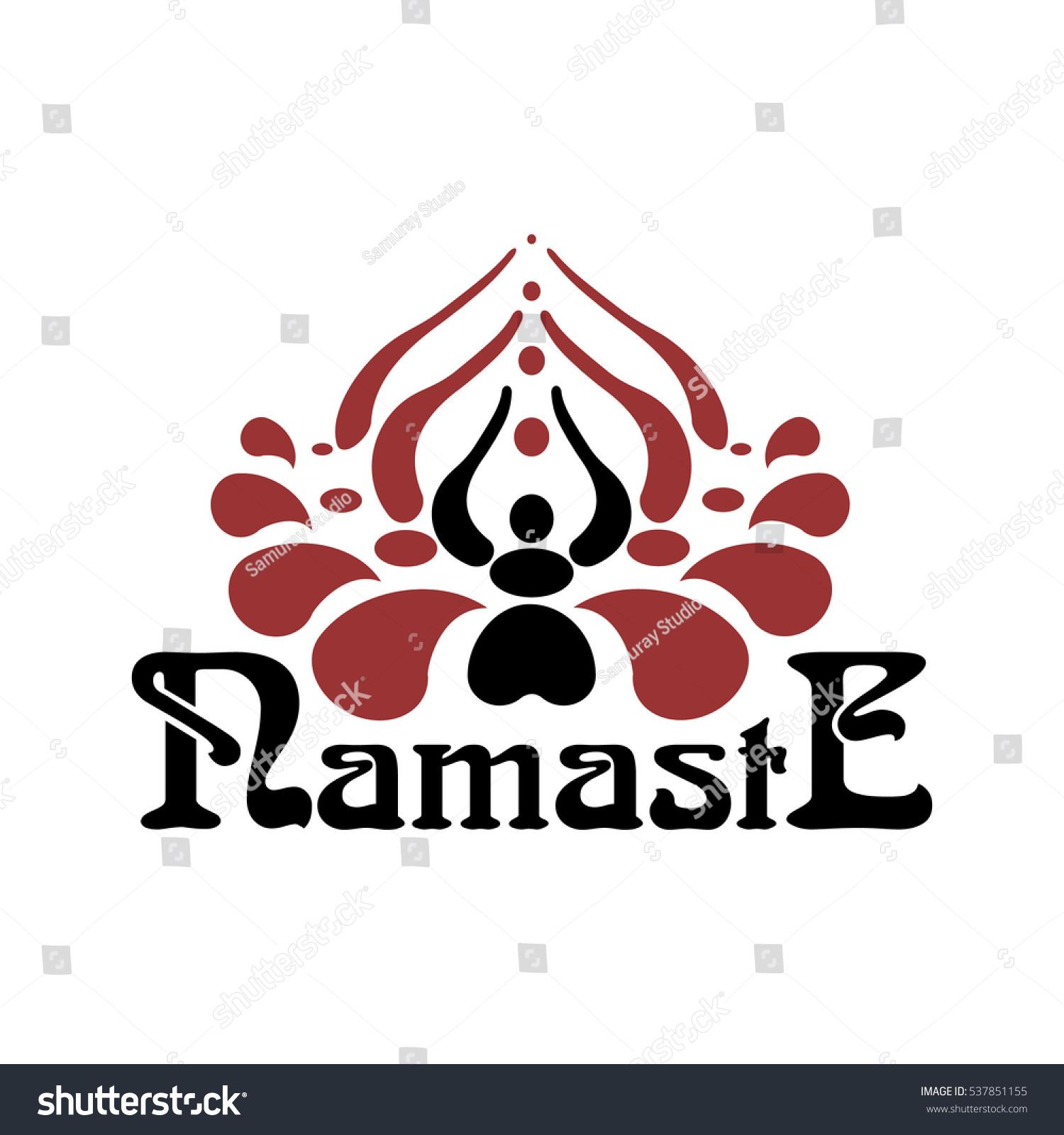 Stylized indian womans hand greeting posture stock vector 537851155 stylized indian womans hand greeting posture of namaste inside of lotus flower namaste font mightylinksfo Gallery