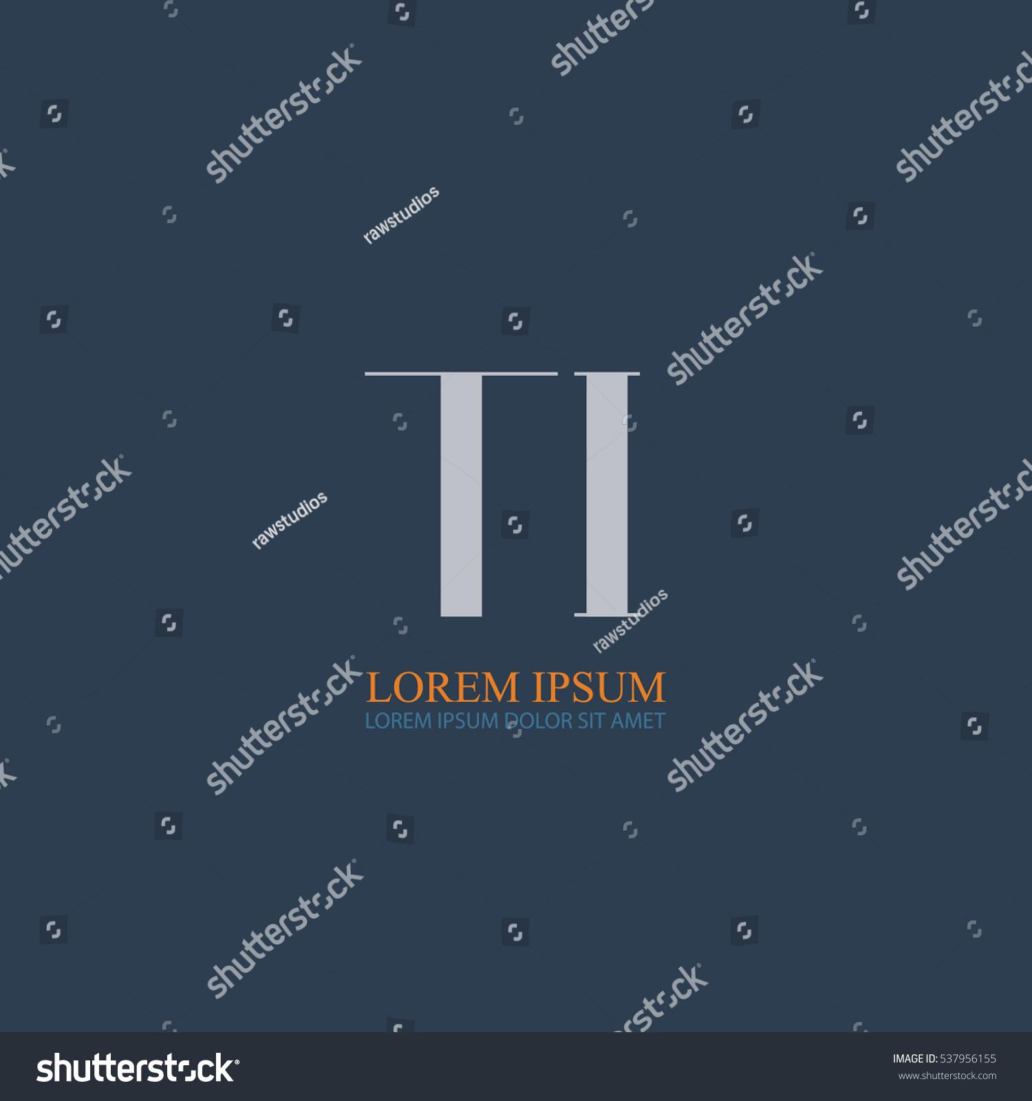 Tj initial luxury ornament monogram logo stock vector - Initial Letter Ti Logo Design For Company Identity