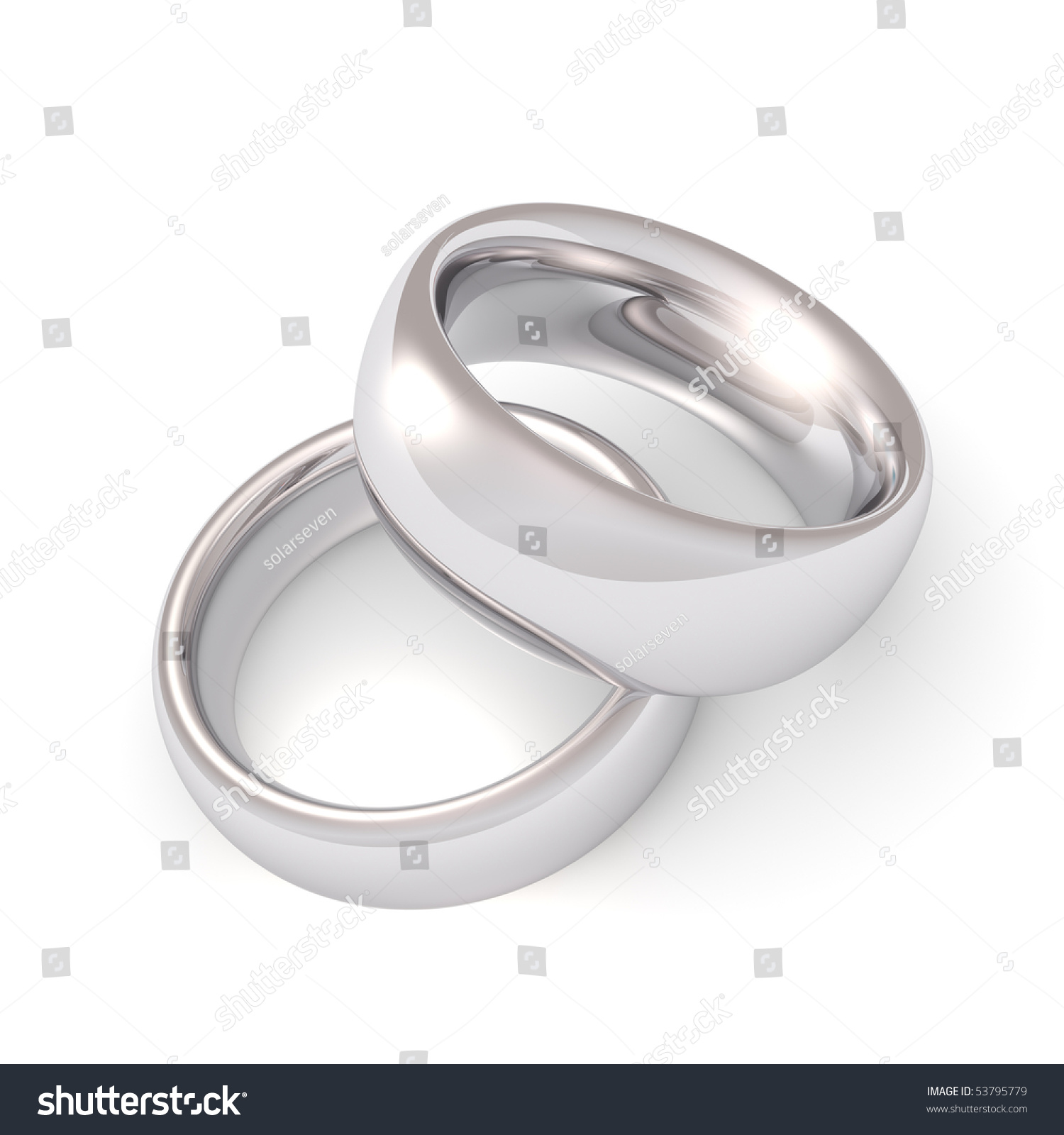 A His And Hers Set Of Platinum Wedding Bands