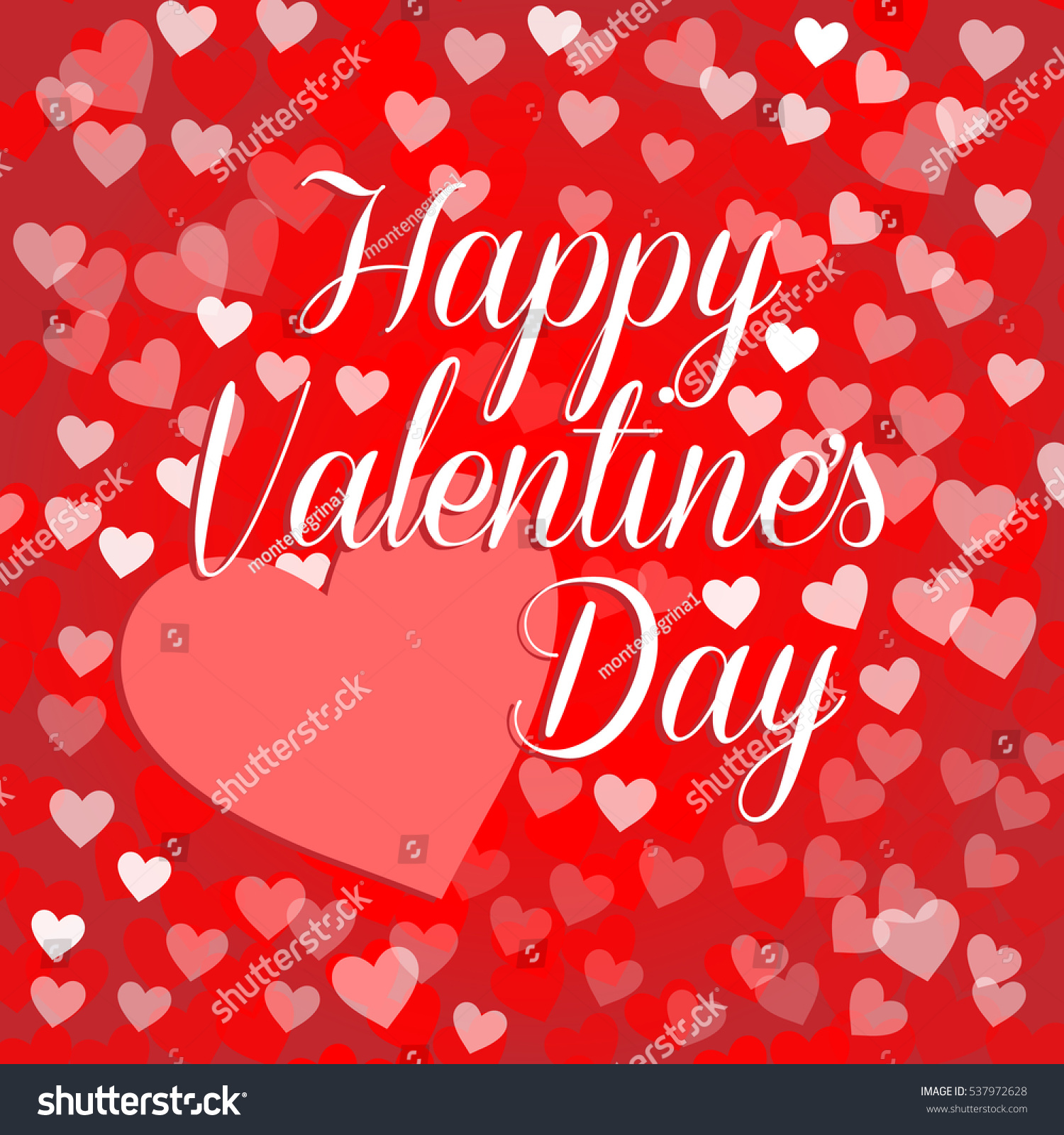 Vector happy valentines card big heart stock vector 537972628 vector happy valentines card with big heart and red color background with small hearts kristyandbryce Images