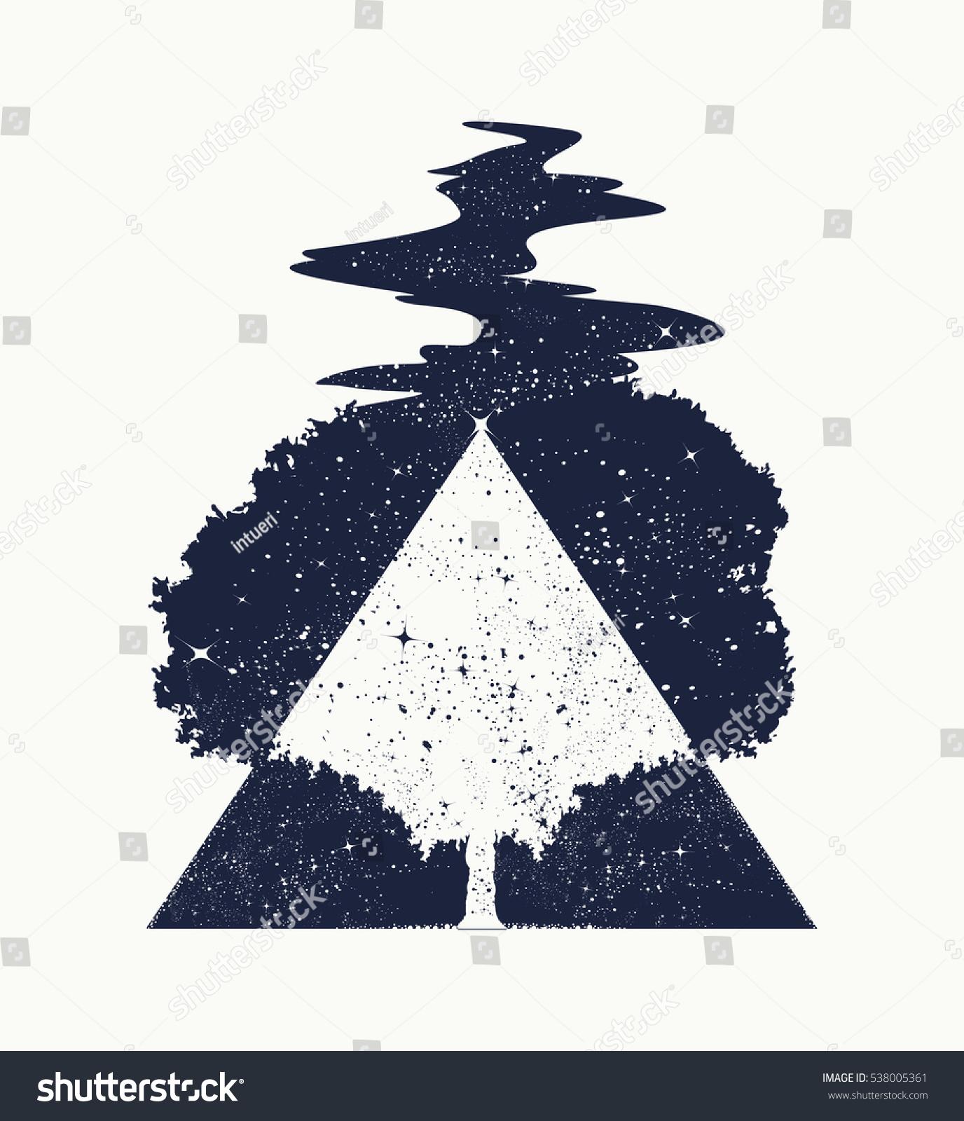 Tree Life Tattoo Art Symbol Life Stock Vector Royalty Free