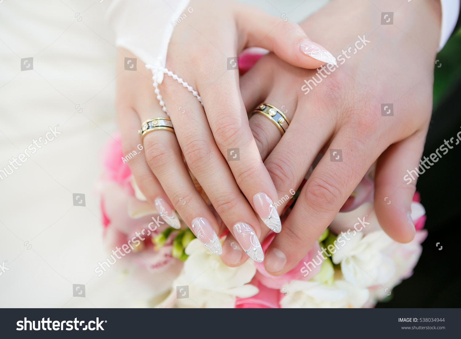 Hands Groom Bride Wedding Rings Wedding Stock Photo & Image (Royalty ...
