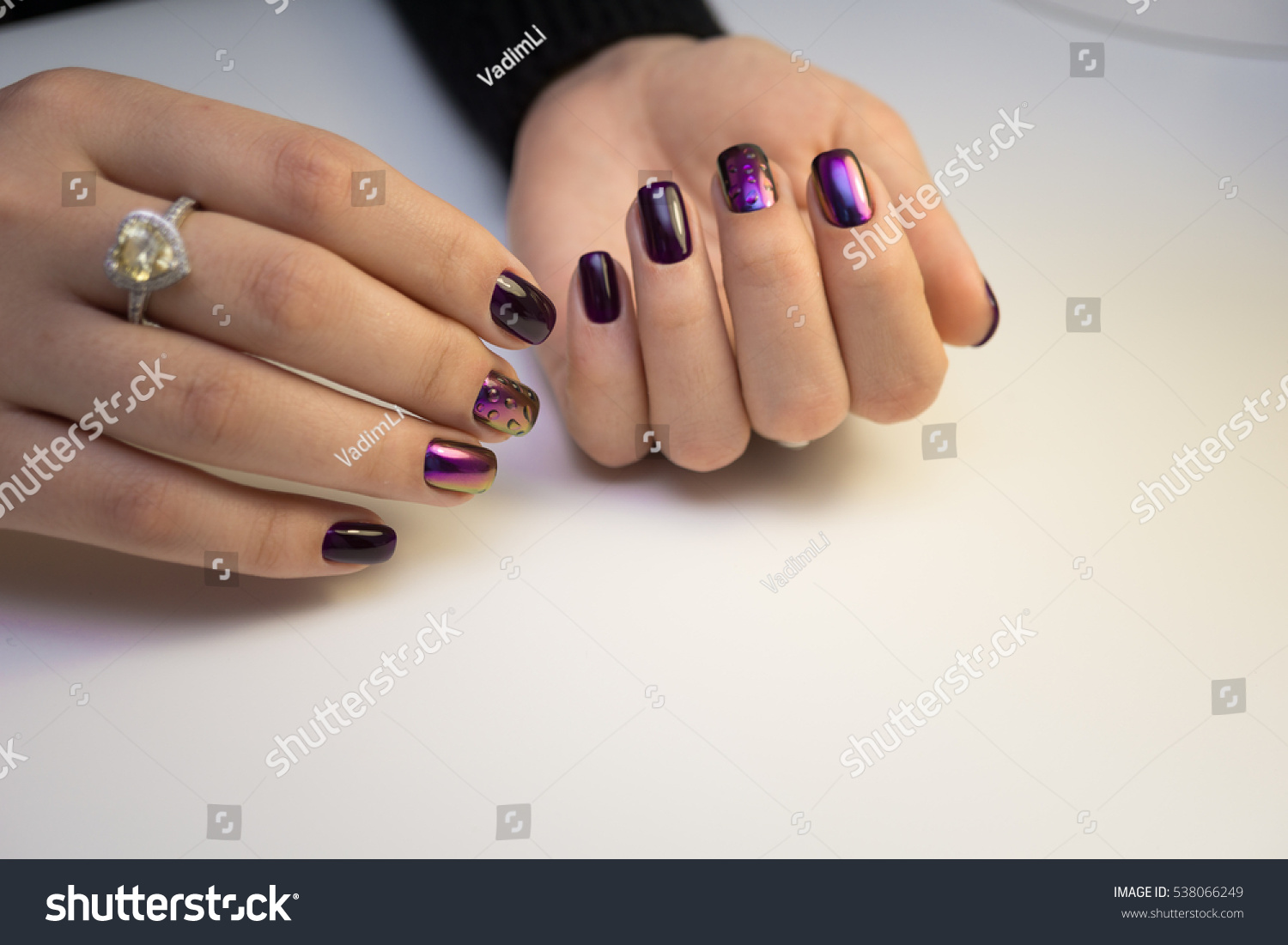 Natural Nails Gel Polish Perfect Clean Stock Photo (Download Now ...