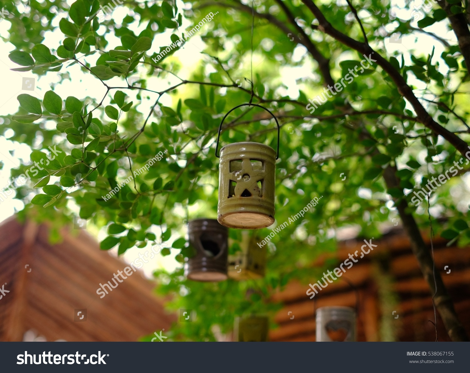 Lamps Made Clay Used Decorative Garden Stock Photo (Royalty Free ...