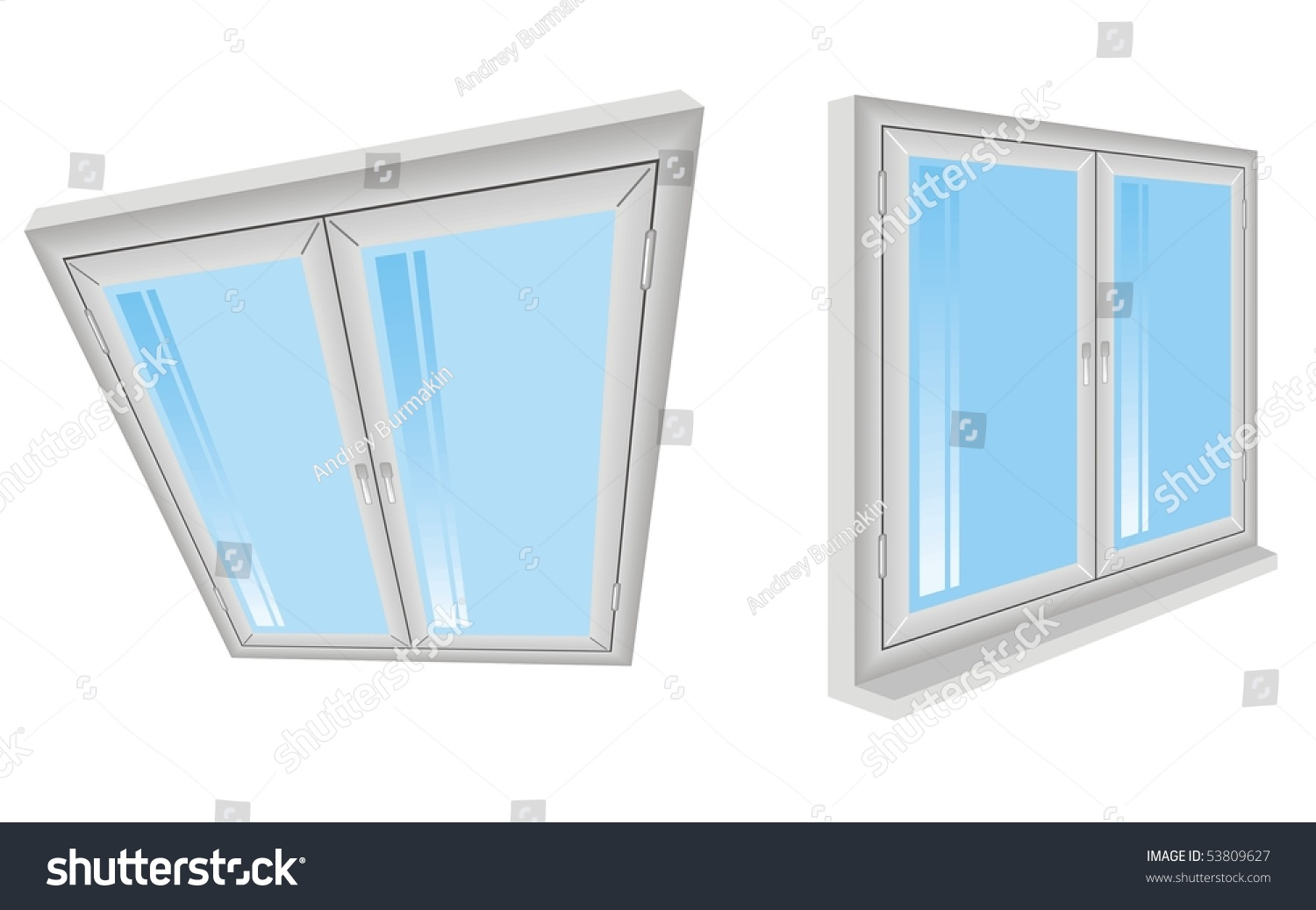Plastic window vector 53809627 shutterstock for Window plastic