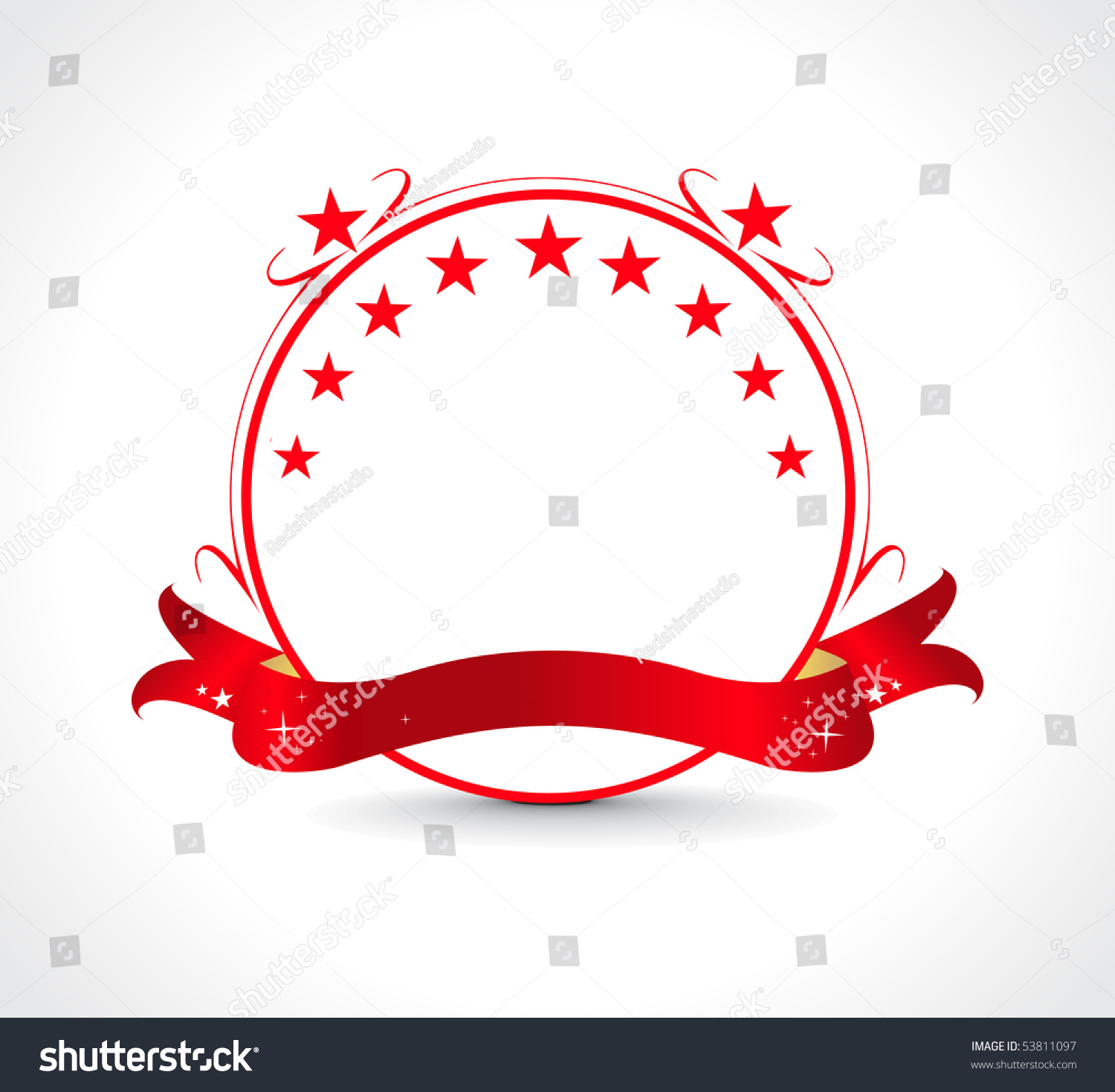 Red Ribbons Red Banners Design Vector Stock Vector 53811097 ...