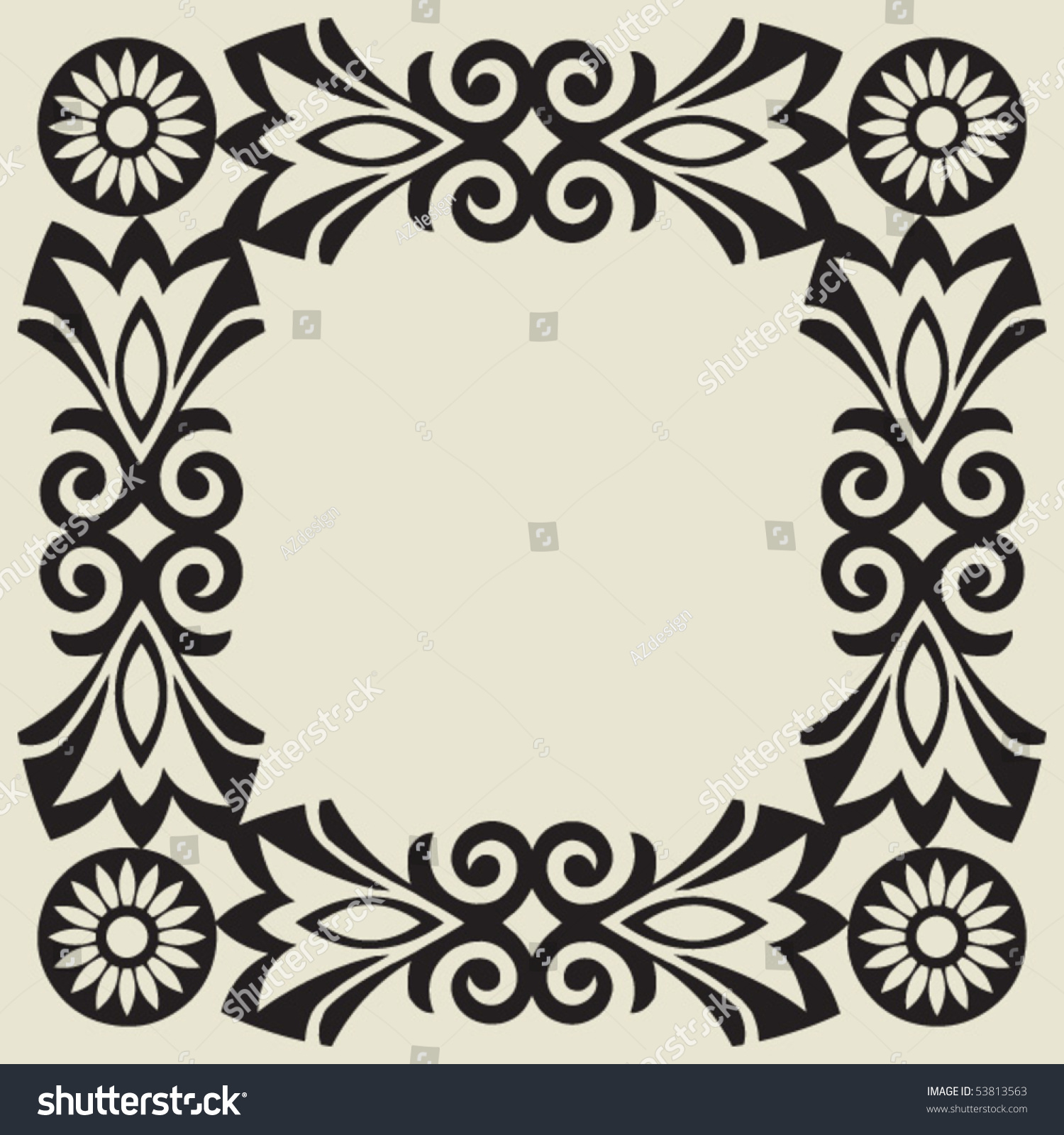 Baroque floral decoration vector design elements for Baroque design elements