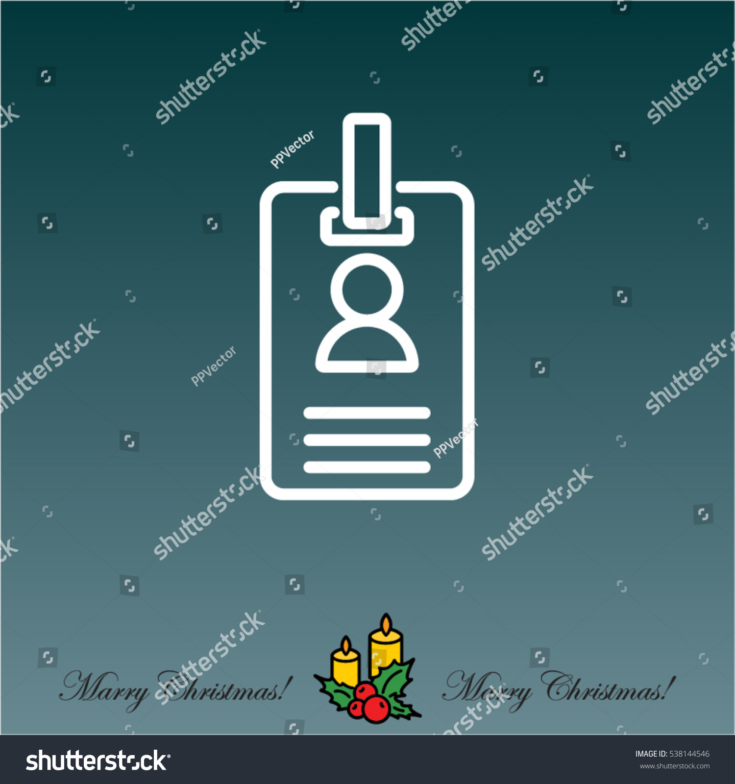 Web Line Icon Business Blank Id Stock Vector Shutterstock