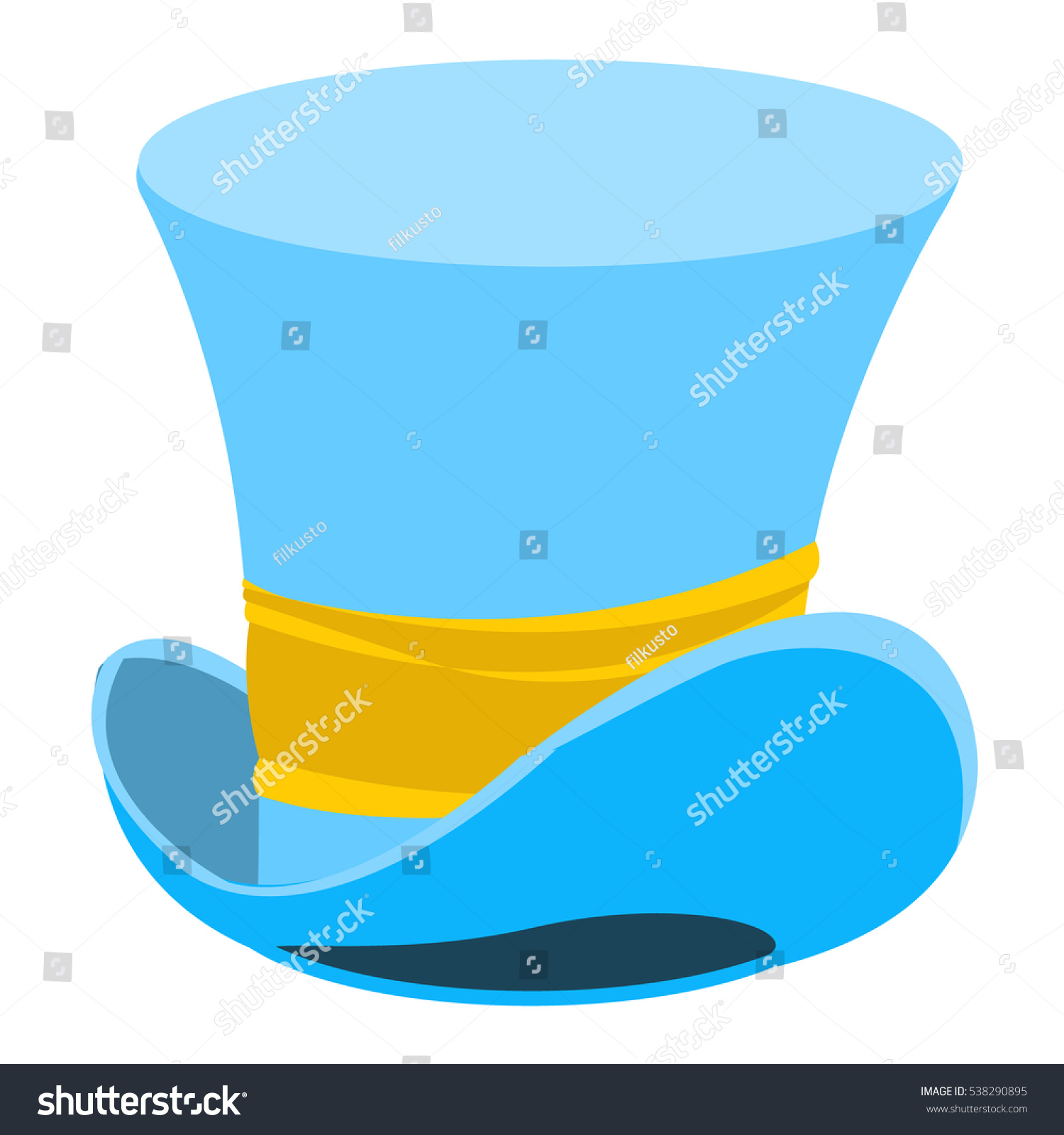 blue wizard hat old mans headdress stock vector 538290895