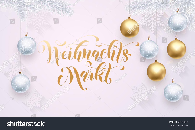 Premium Luxury Christmas Market Germany Background Stock Vector ...