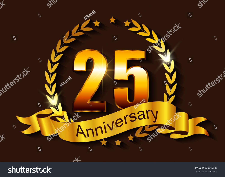 Anniversary template design years anniversaryvector stock