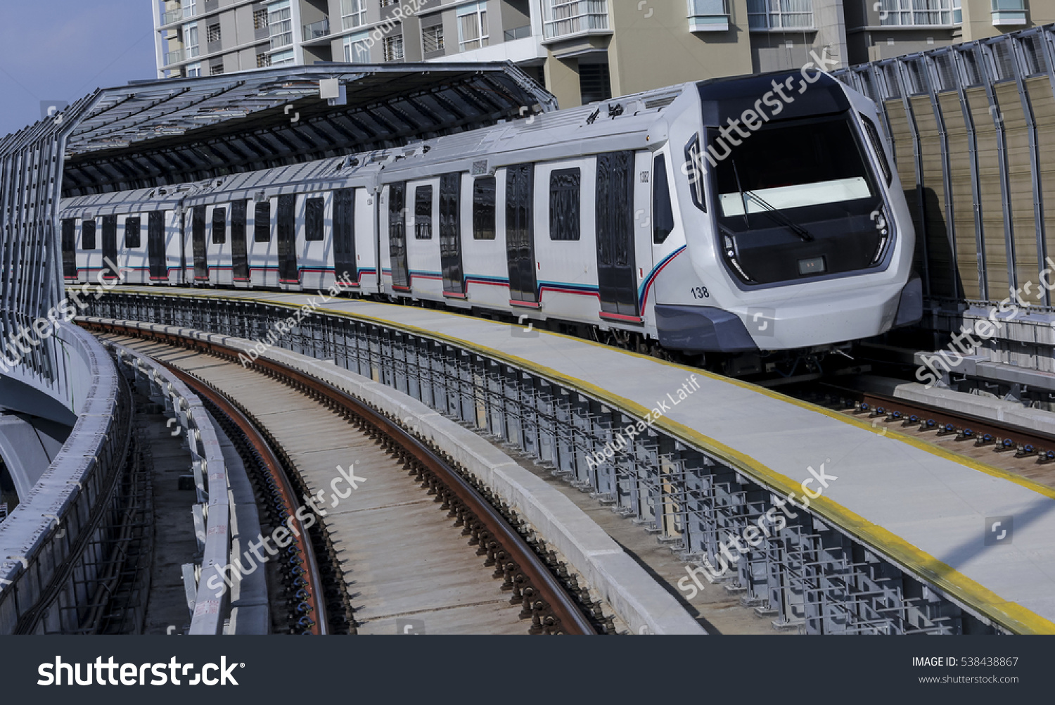 KUALA LUMPUR MALAYSIA DECEMBER 15 2016 Mass Rapid Transit MRT train MRT is new public transport for everyone in Klang Valley with launch of the first line from Sungai Buloh to Kajang SBK