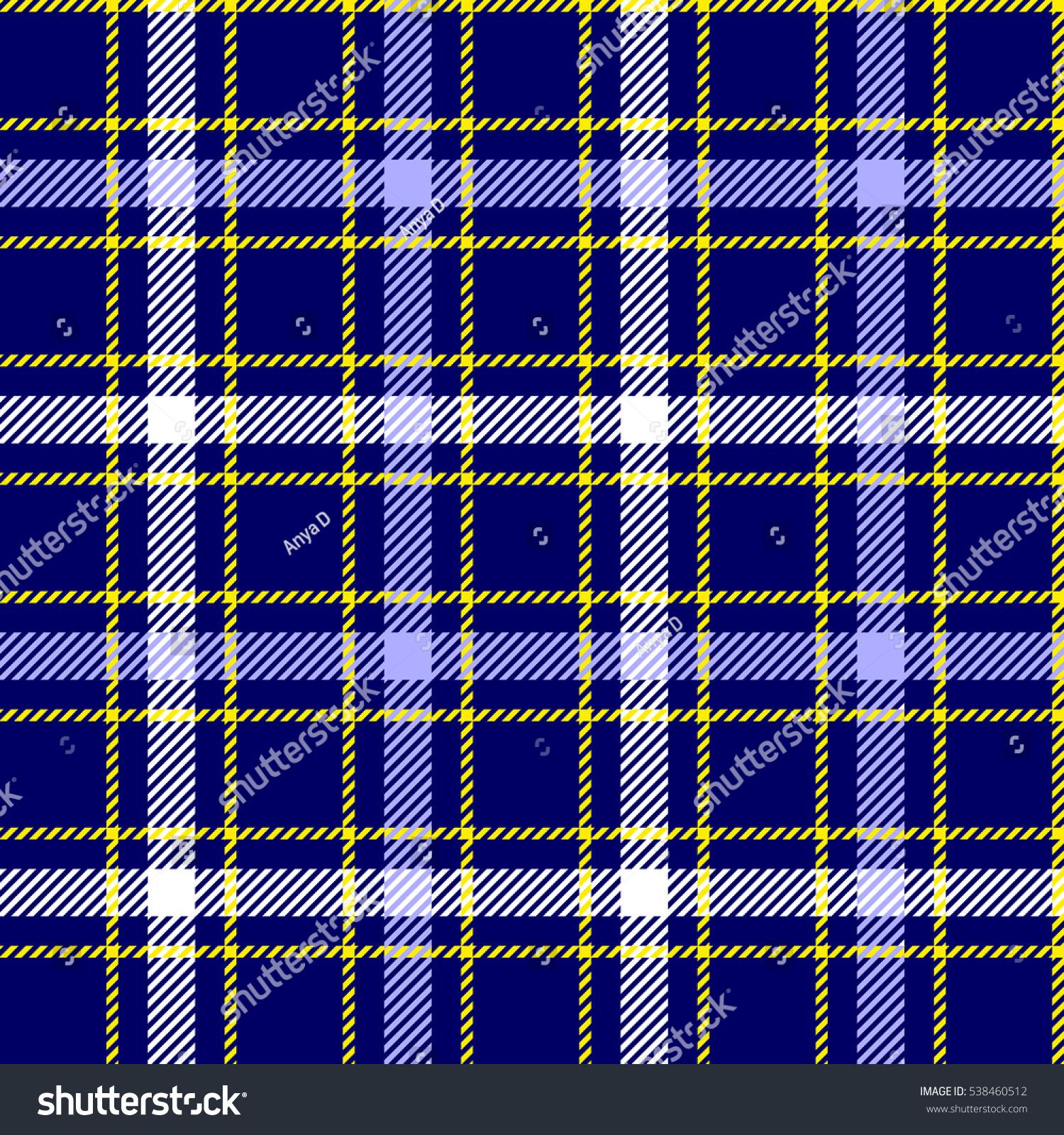 Beautiful Seamless Tartan Plaid Pattern Light Blue Stock Vector (2018  QN29