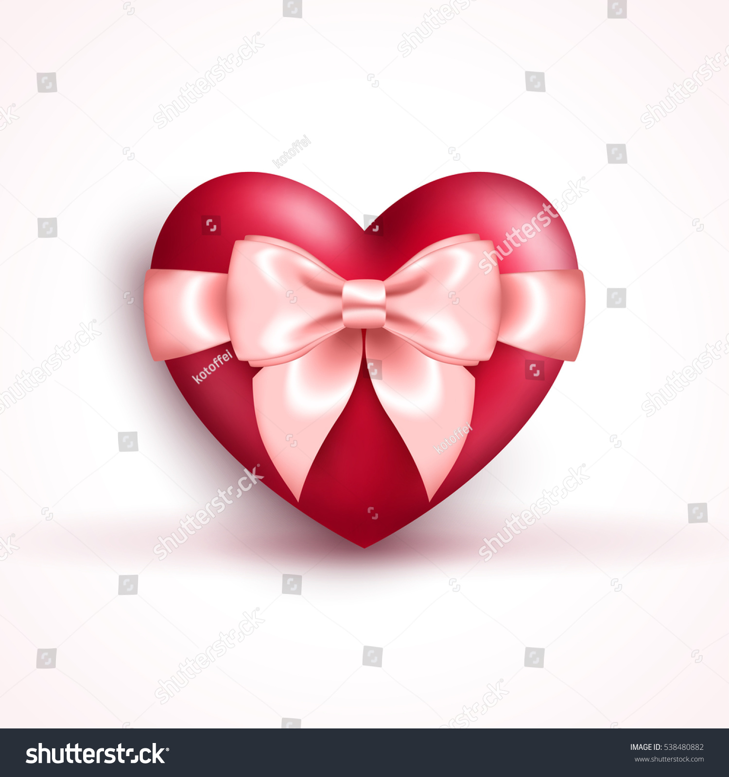 valentines day concept icon 3d glossy stock vector 538480882