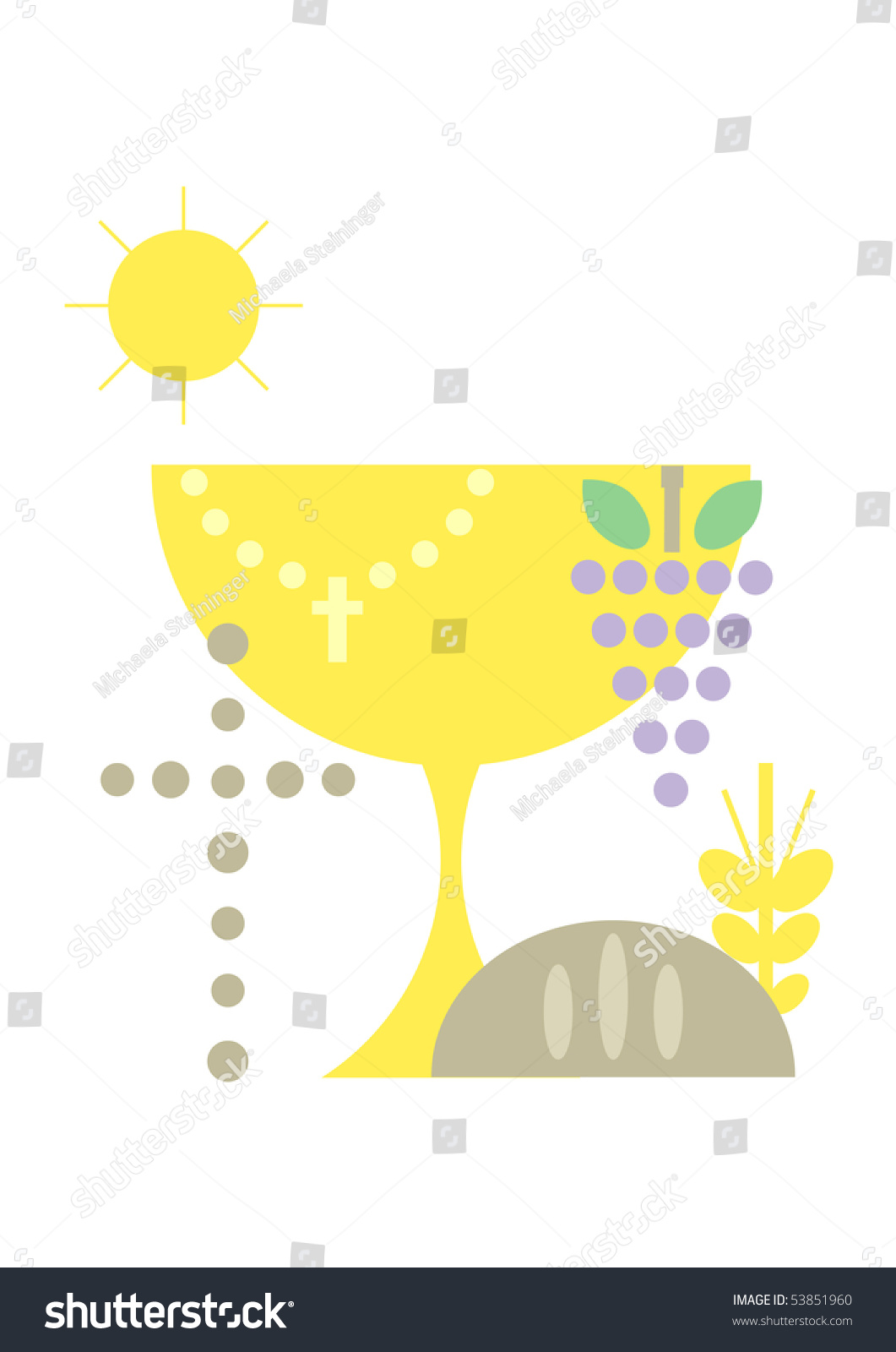 Chalice and paten clipart