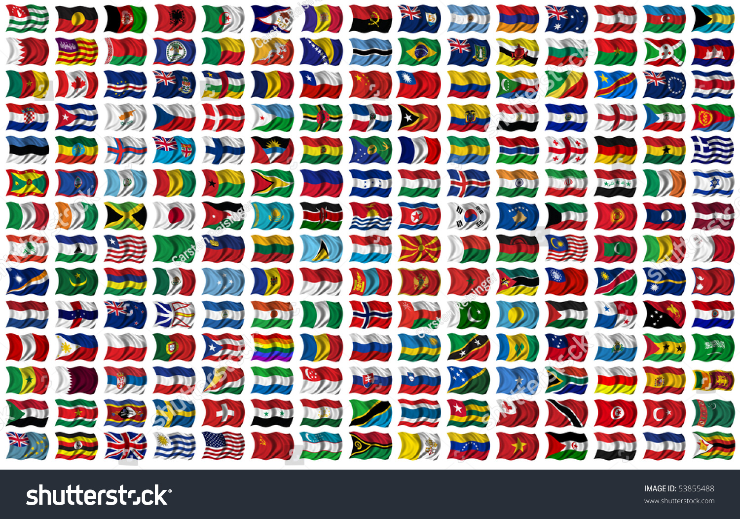 210 Flags World Every Flag Has Stock Illustration 53855488
