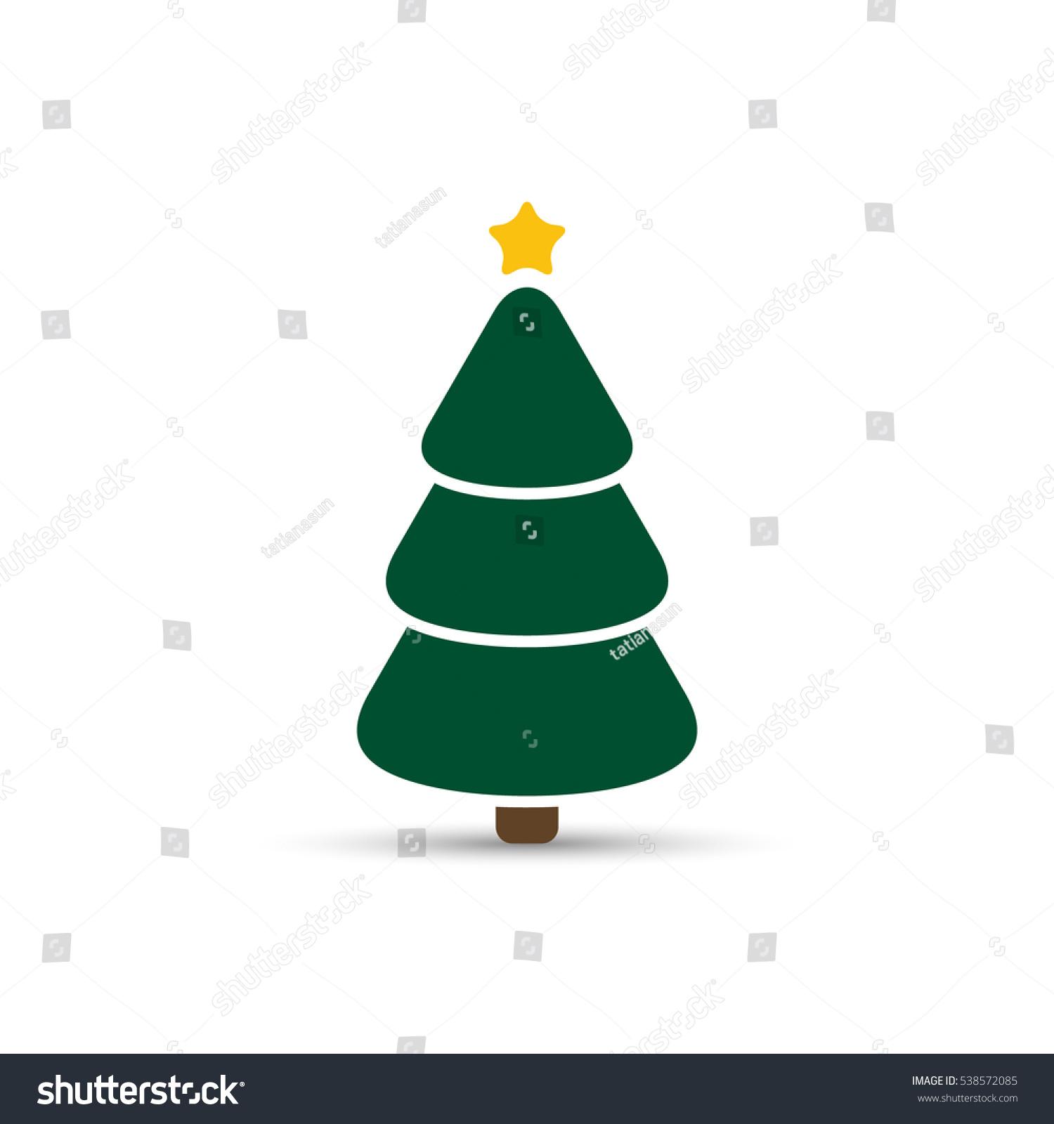 Christmas Tree Color Green Icon Vector Stock Vector 538572085 ...