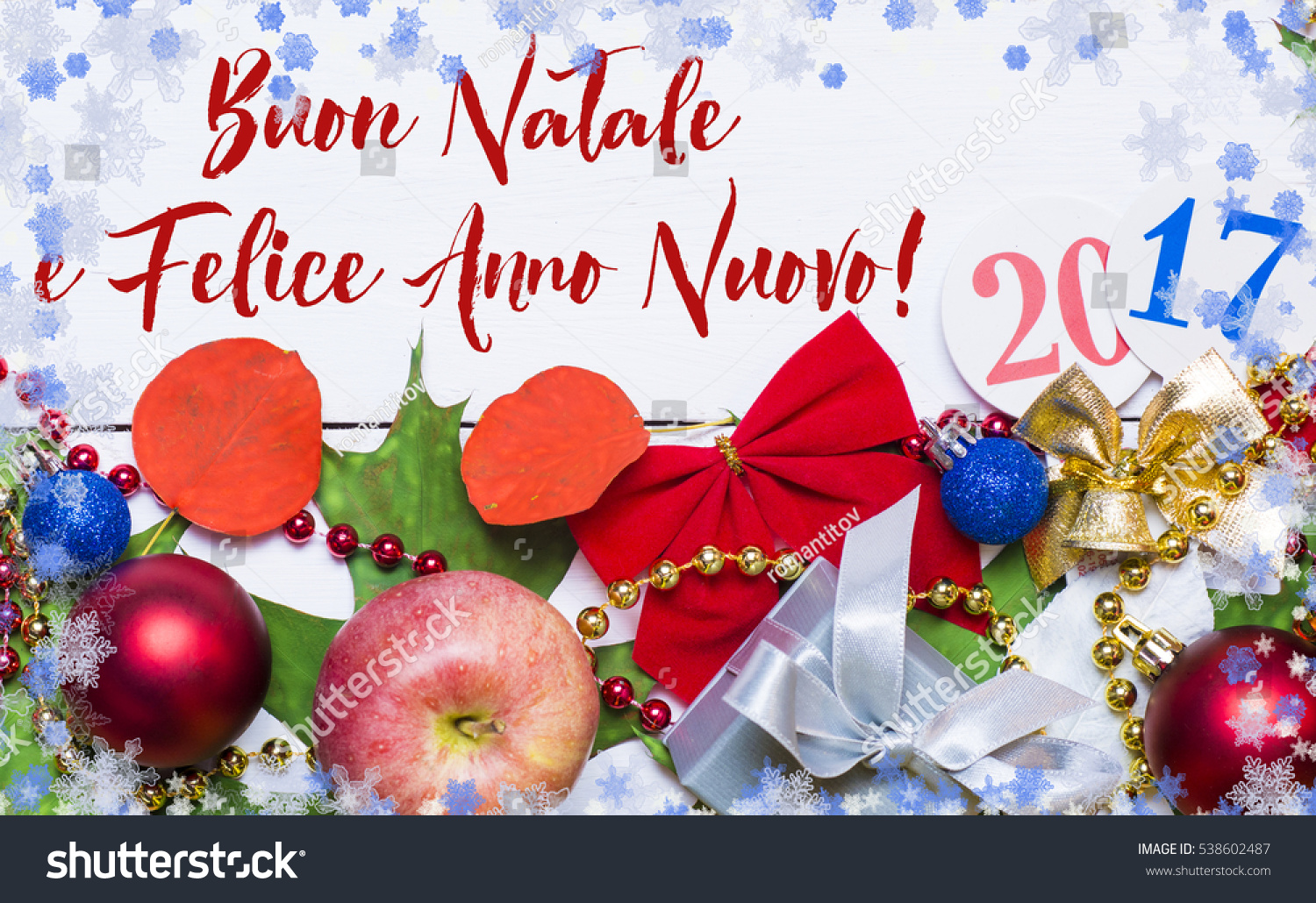 merry christmas and happy new year in italian language 2017 card holiday frame from apples - How To Say Merry Christmas In Italian