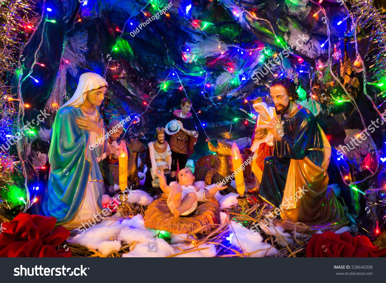Christmas Eve Statue Jesus Birth Stock Photo (Edit Now) 538640308 ...