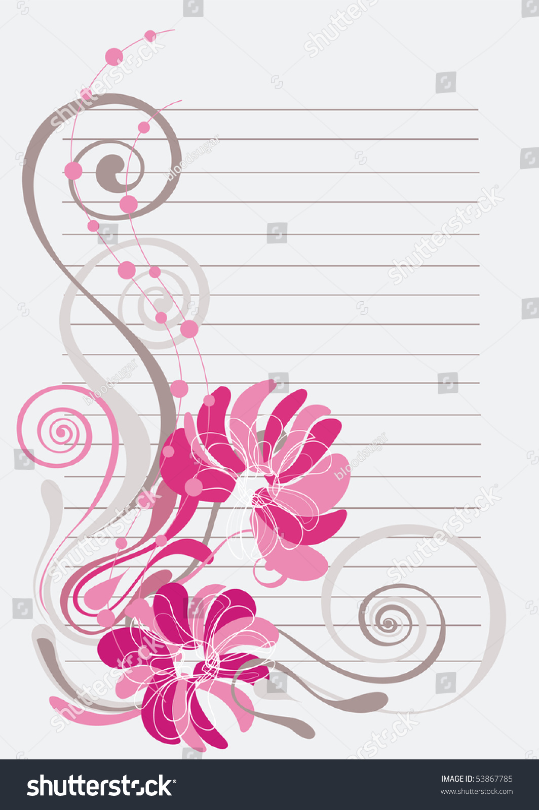 beautiful floral background soft pink grey stock vector 53867785
