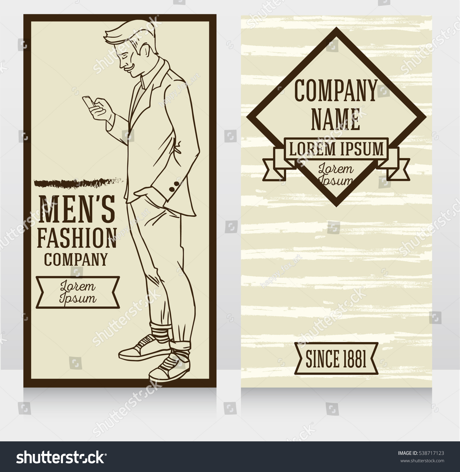 Banner Retro American Style Trendy Hipster Stock Vector 538717123 ...