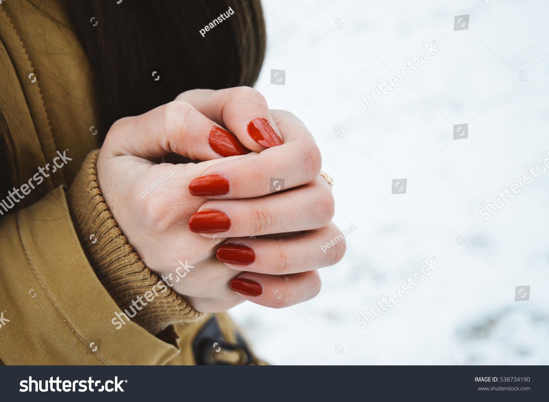 Girls Hands Cold Stock Photo 538734190 - Shutterstock