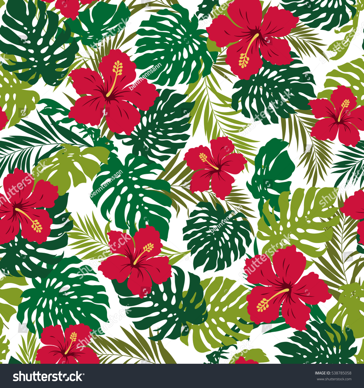 Hibiscus flower pattern stock photo photo vector illustration hibiscus flower pattern izmirmasajfo