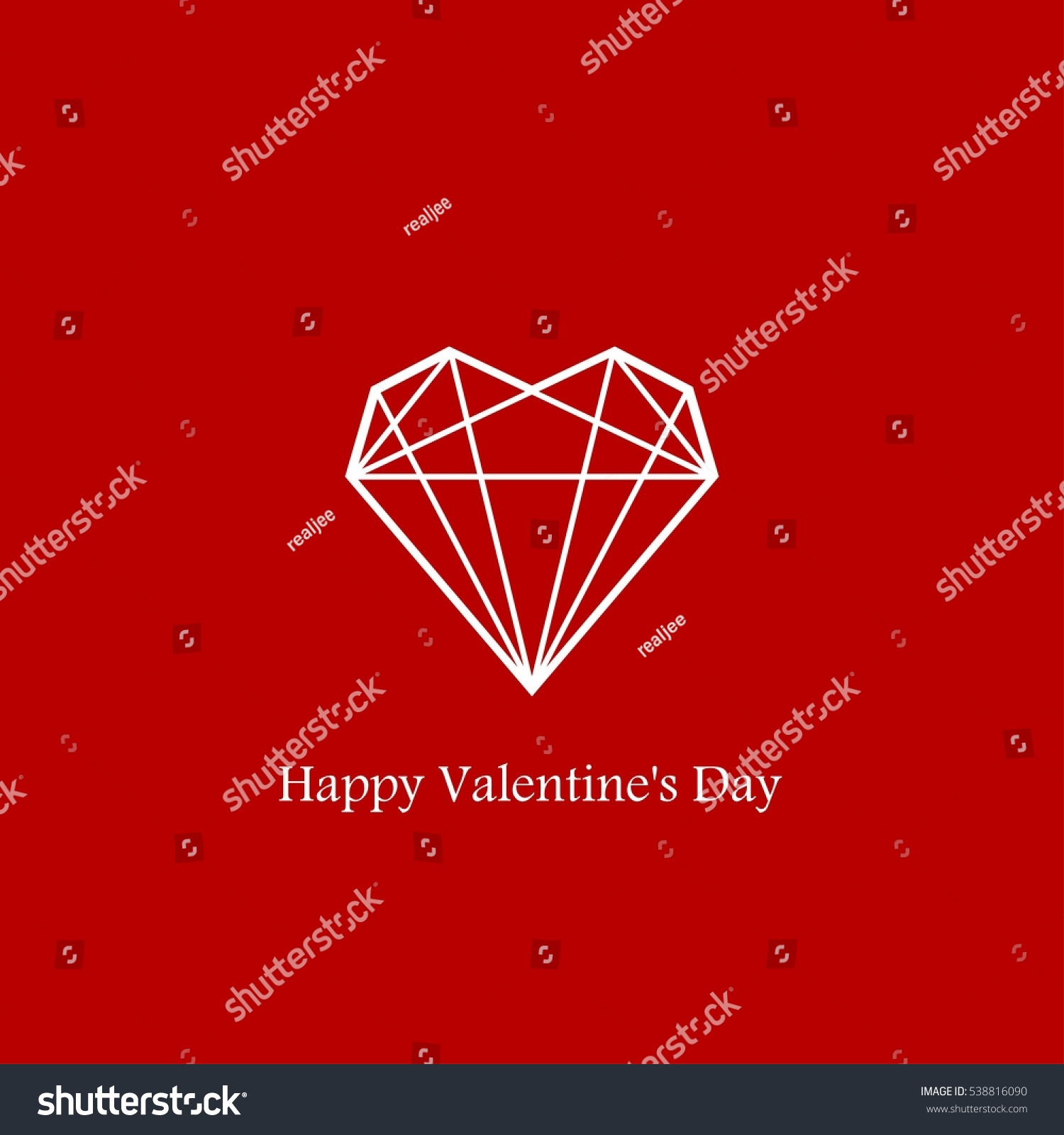 Heart Geometry Shape Valentines Day Stock Vector Royalty Free