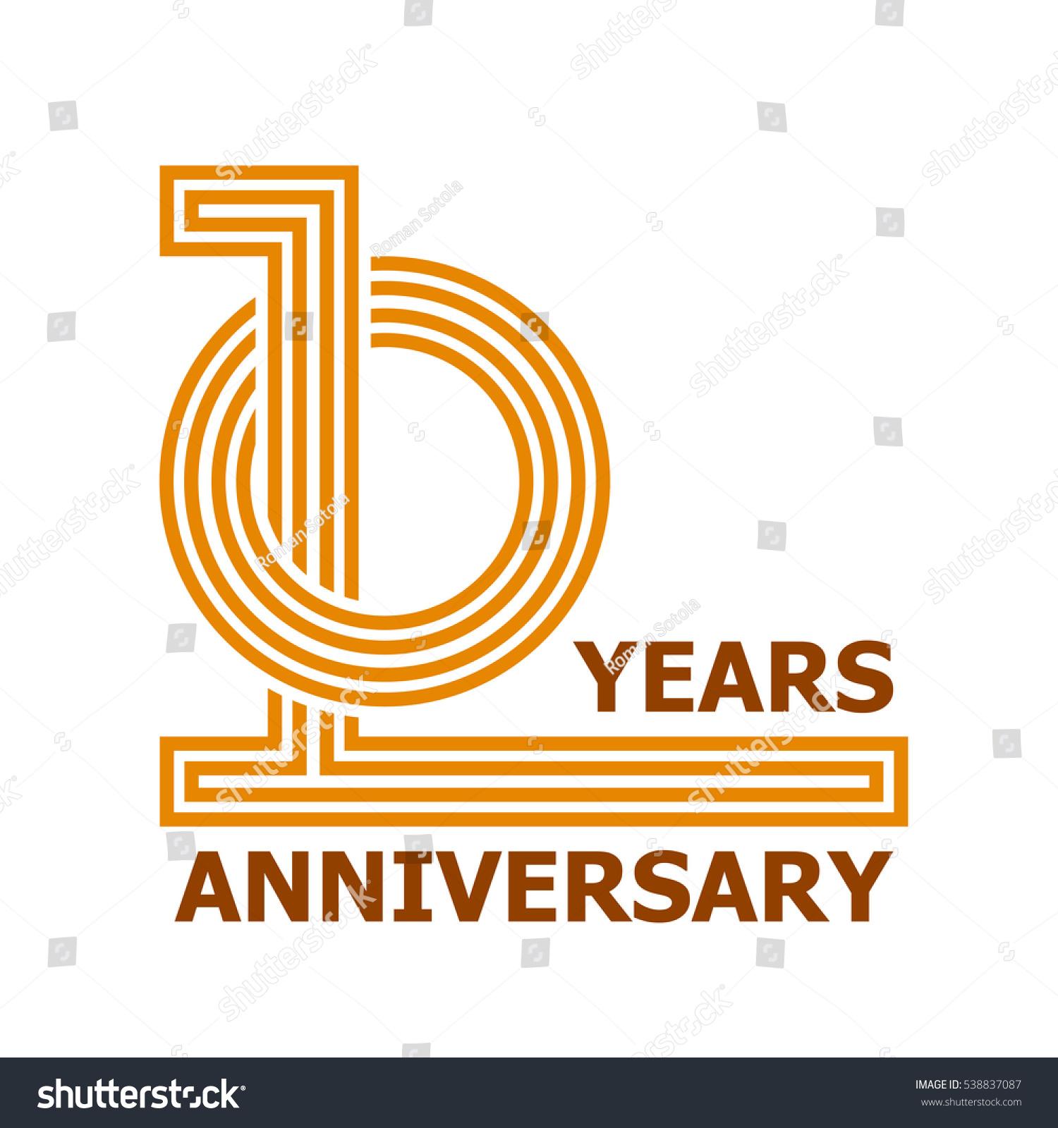 10 Years Anniversary Symbol Vector Stock Vector Royalty Free