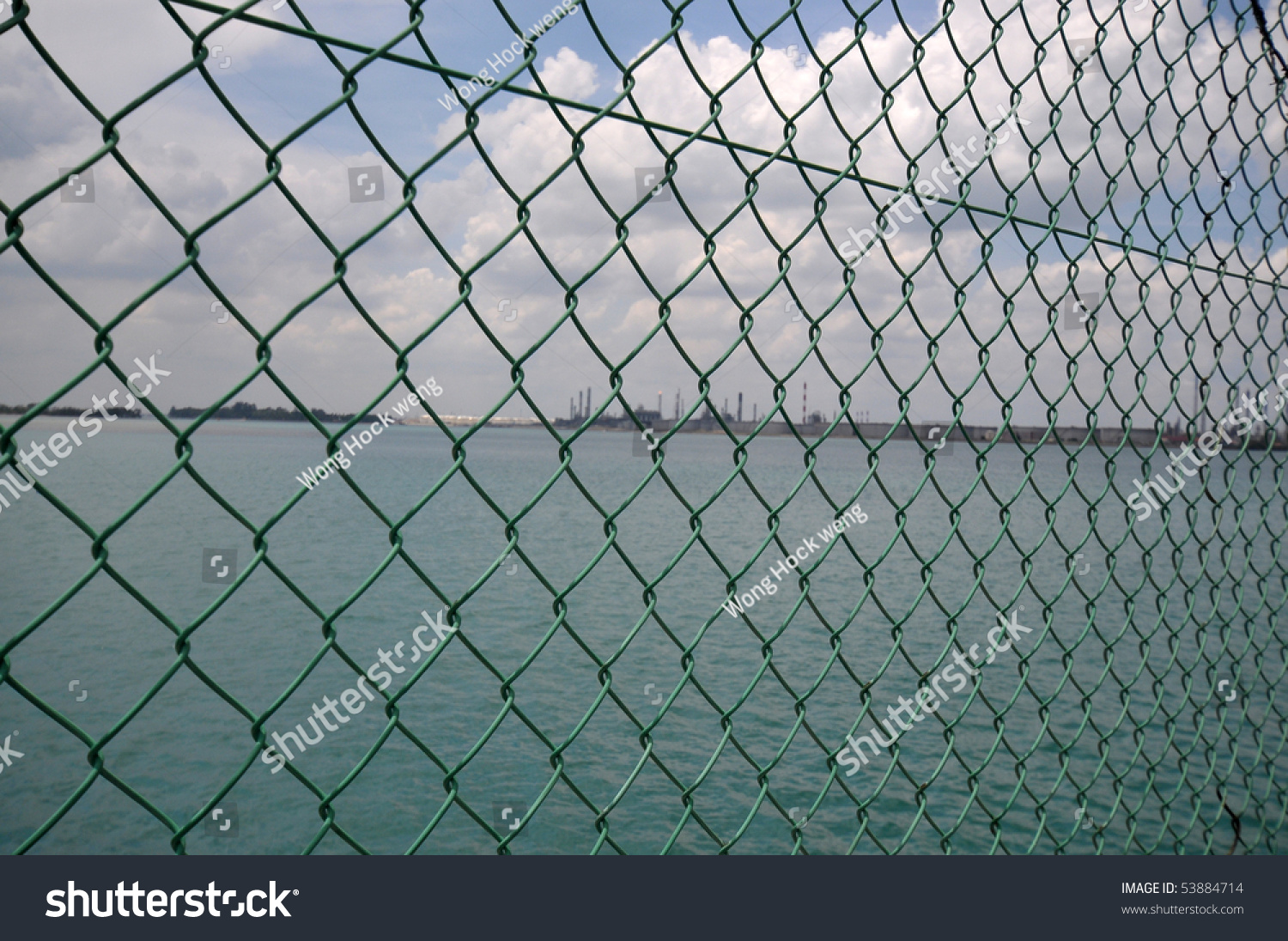Wire Mesh Fencing Stock Photo (Royalty Free) 53884714 - Shutterstock