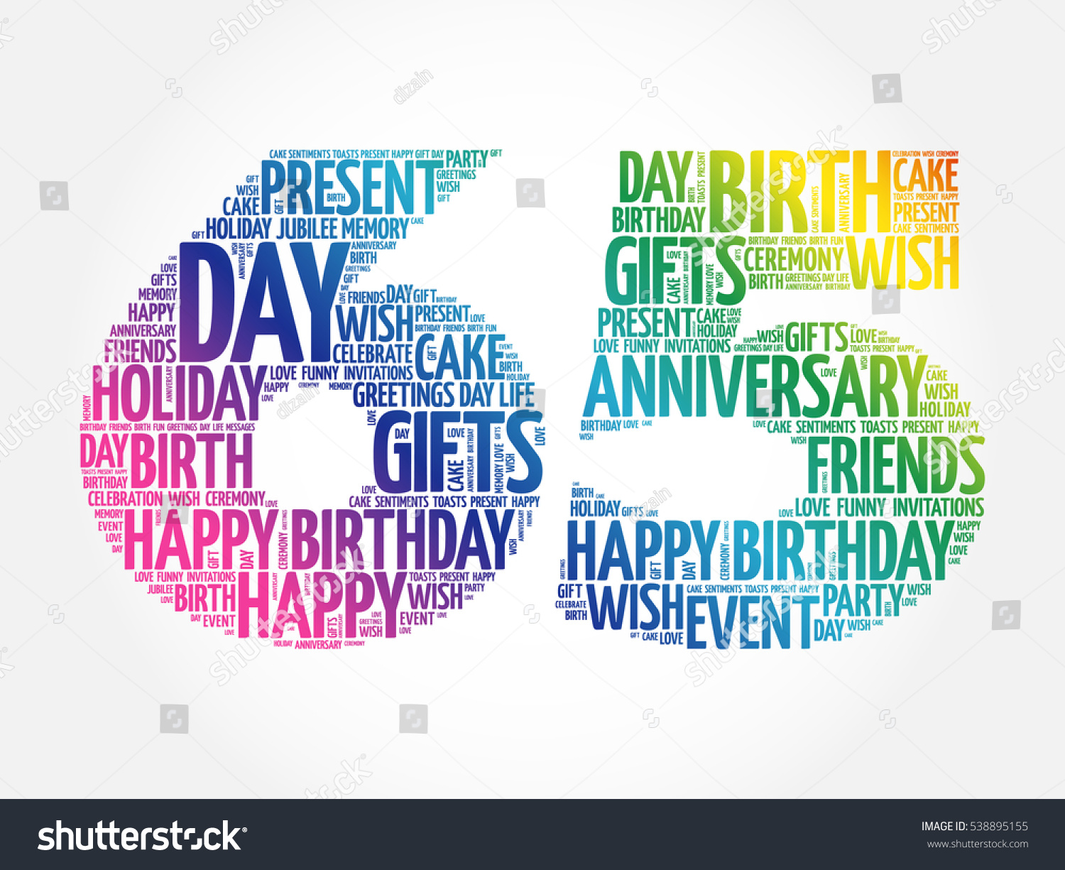 Happy 65th birthday word cloud collage stock vector 538895155 happy 65th birthday word cloud collage concept kristyandbryce Image collections